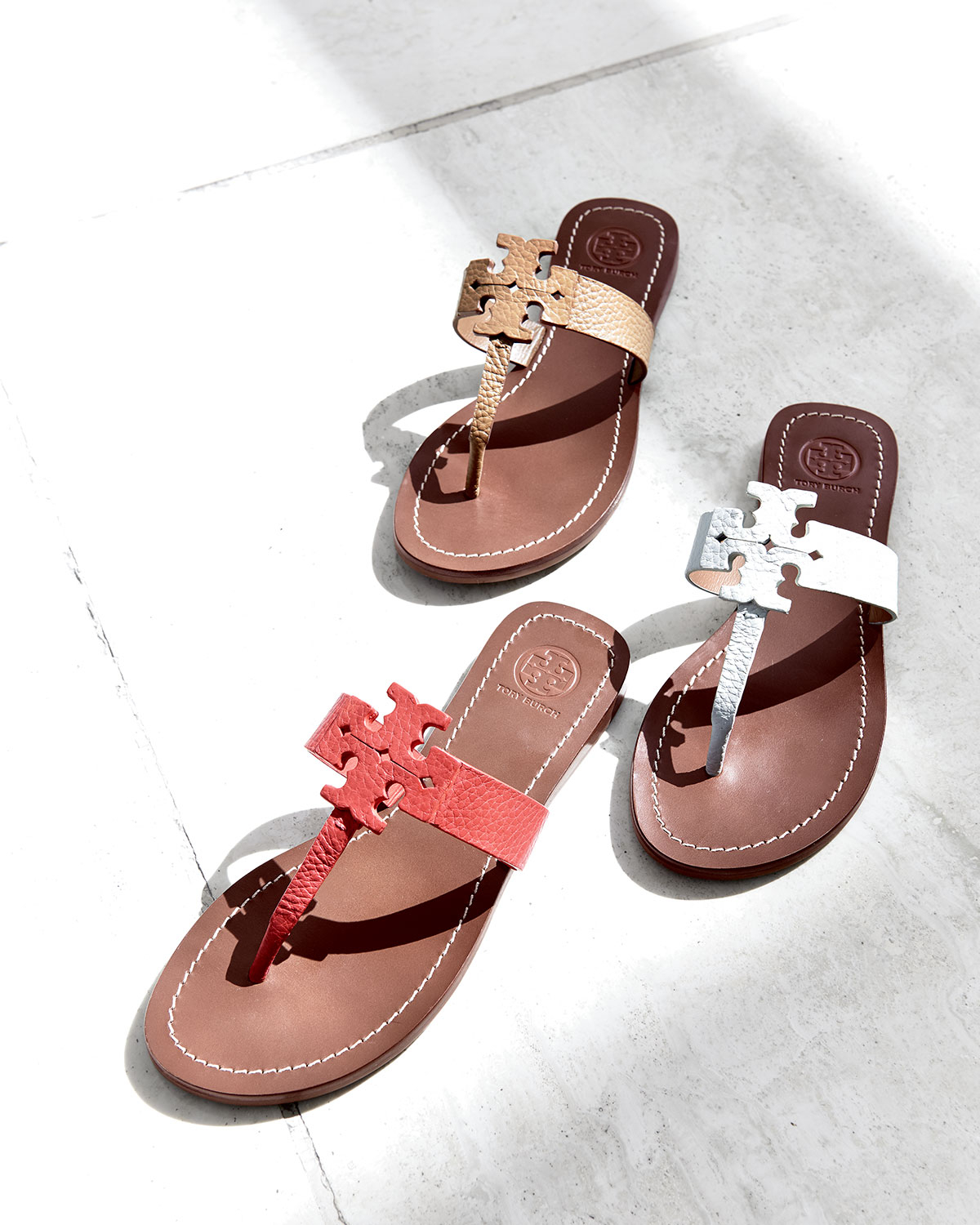 ddd9ff1ef6c Lyst - Tory Burch Moore Leather Thong Sandal in Brown
