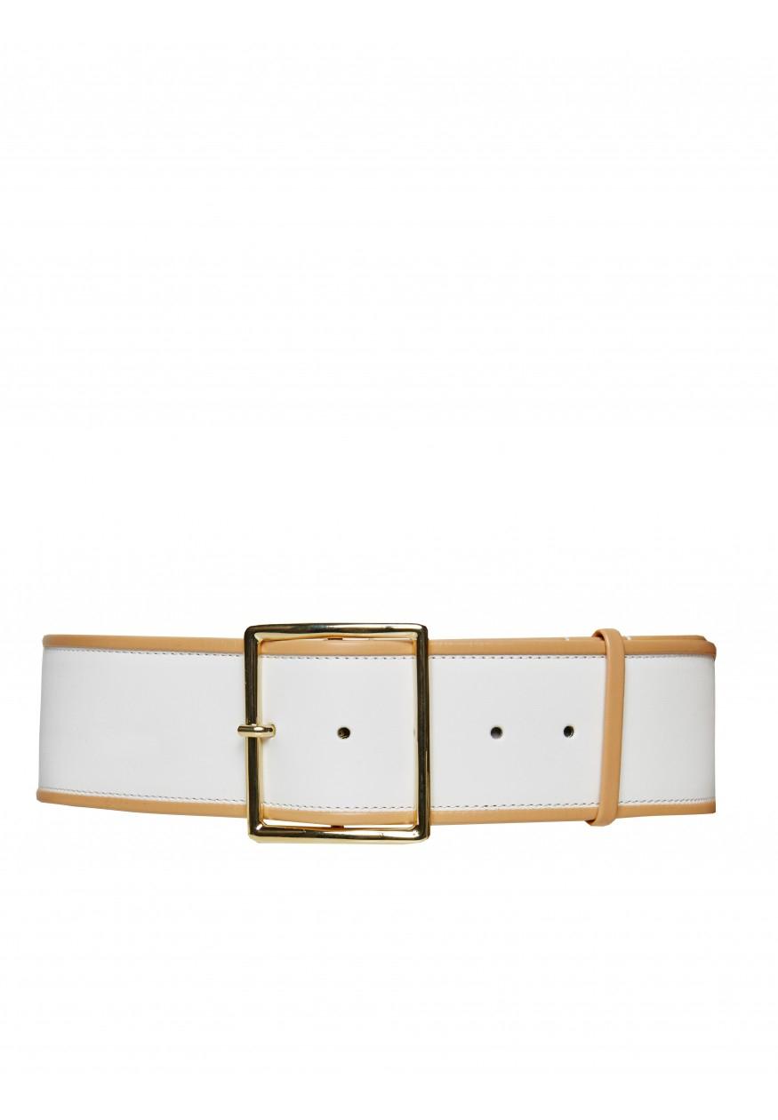 wide belt in white lyst