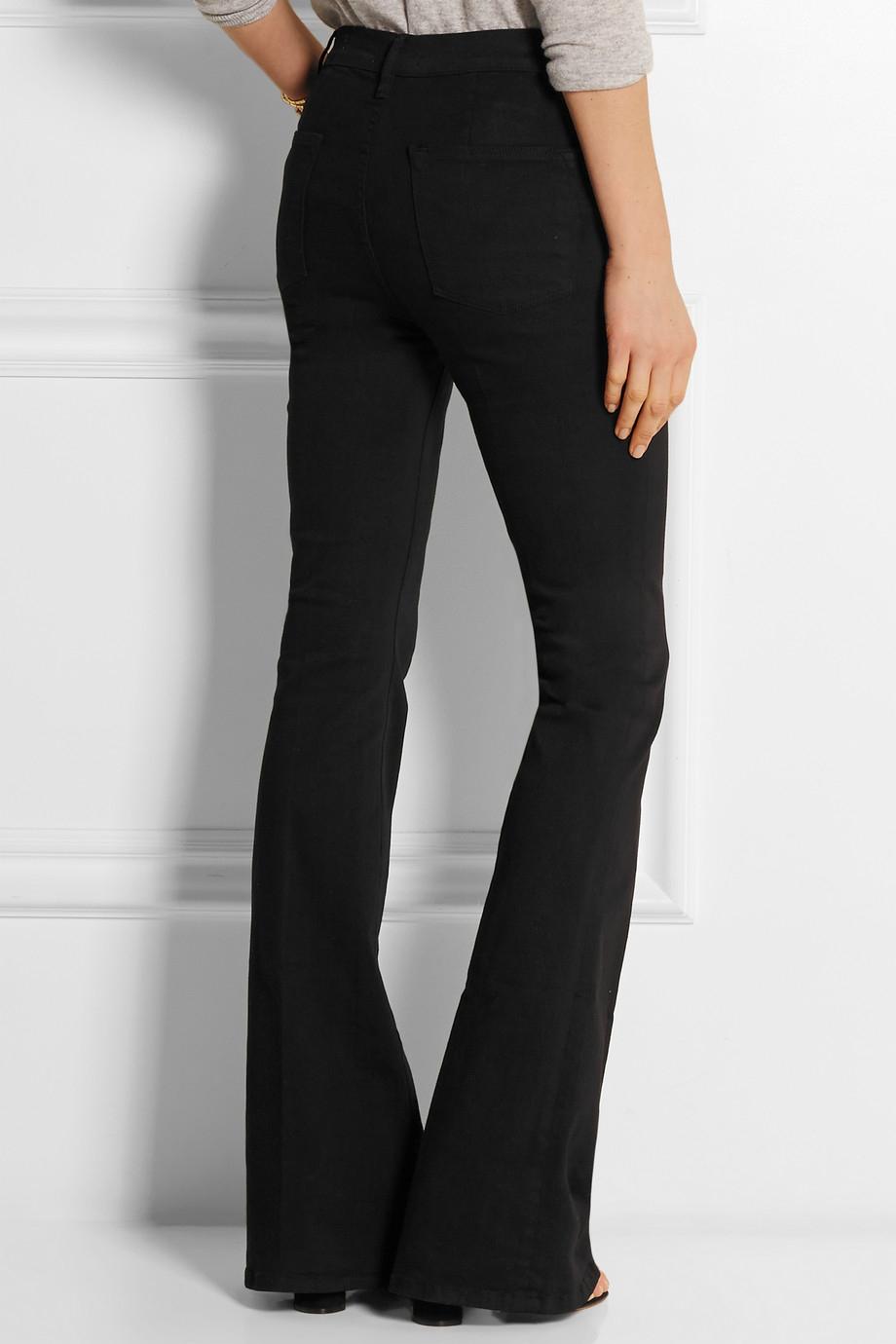 Le High High-rise Flared Jeans - Dark denim Frame Denim tJljnlWr9