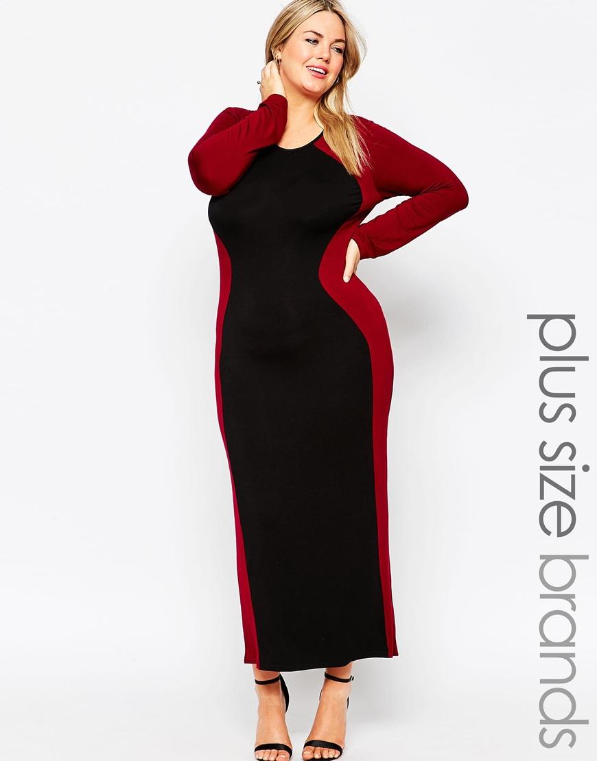 Club L Plus Size Optical Illusion Maxi Dress in Black - Lyst