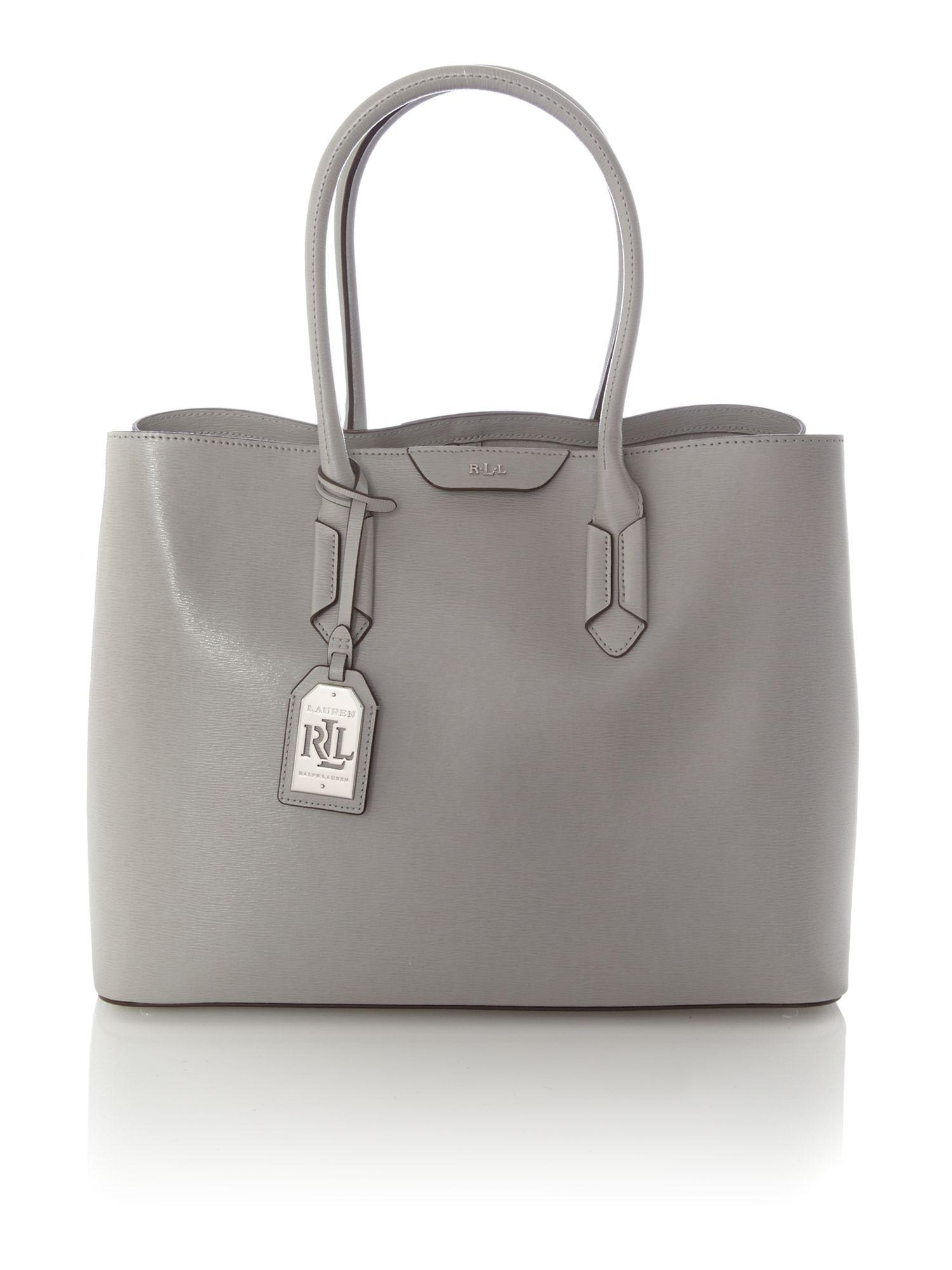 Ralph Lauren City Laukku : Lauren by ralph grey large city tote bag in gray