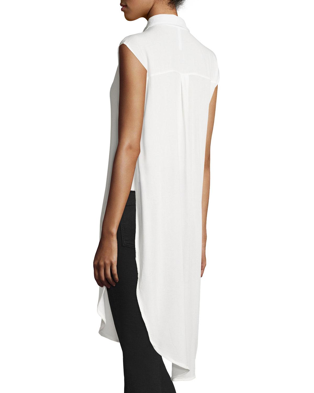 54346a9cb39dd Lyst - Cirana Sleeveless Long Utility Tunic in White