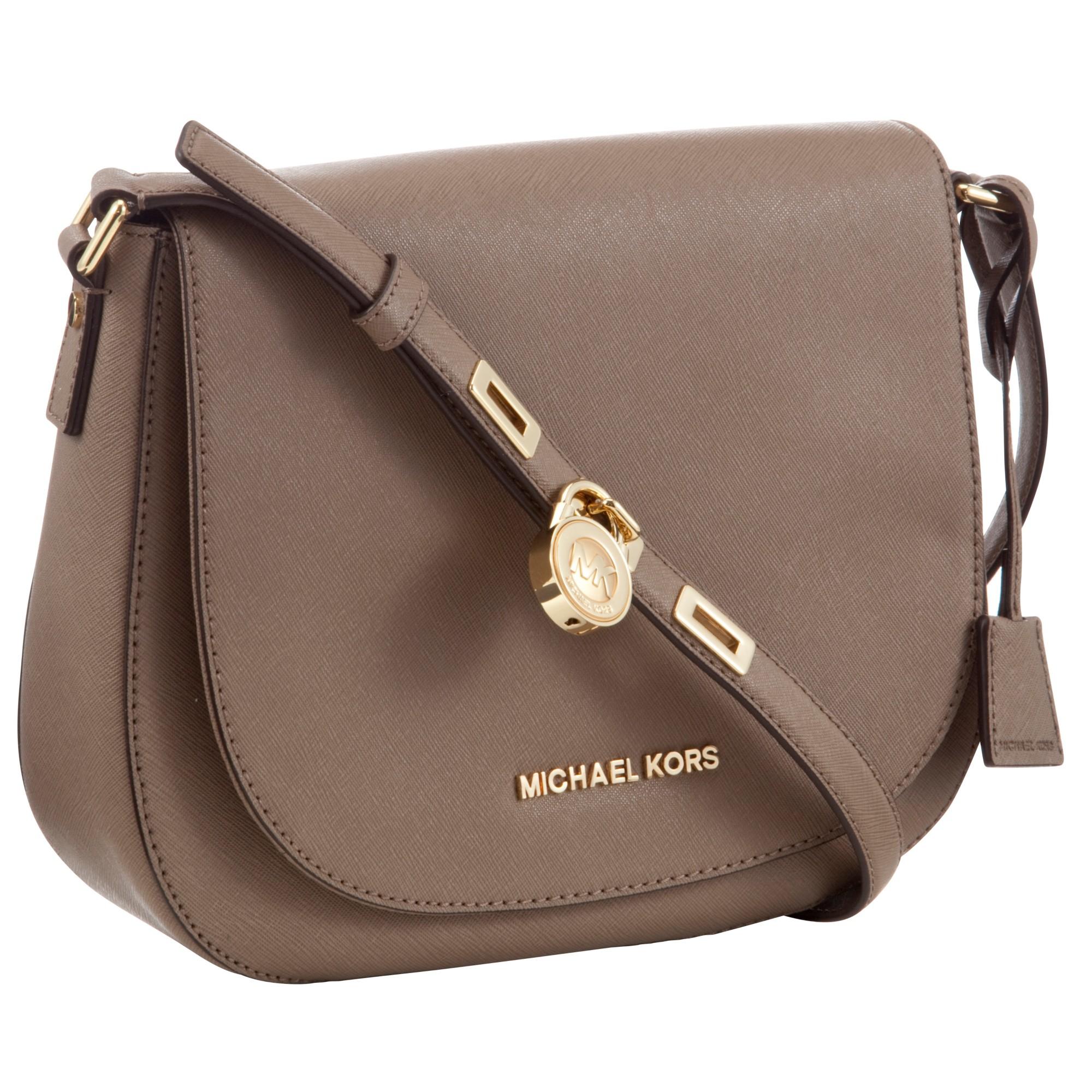 Michael Kors Hamilton Leather Large Messenger Bag
