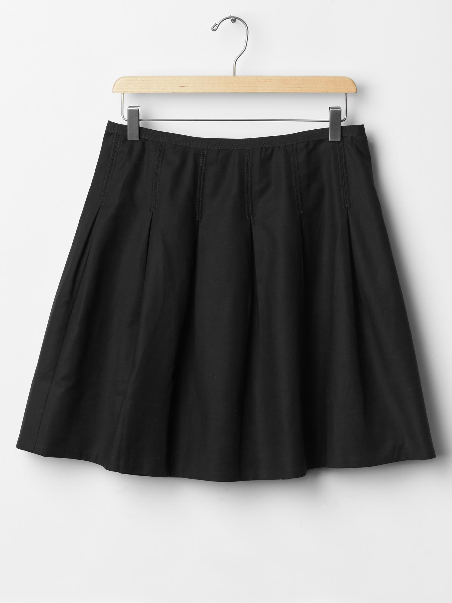 gap pleated skirt in black true black lyst