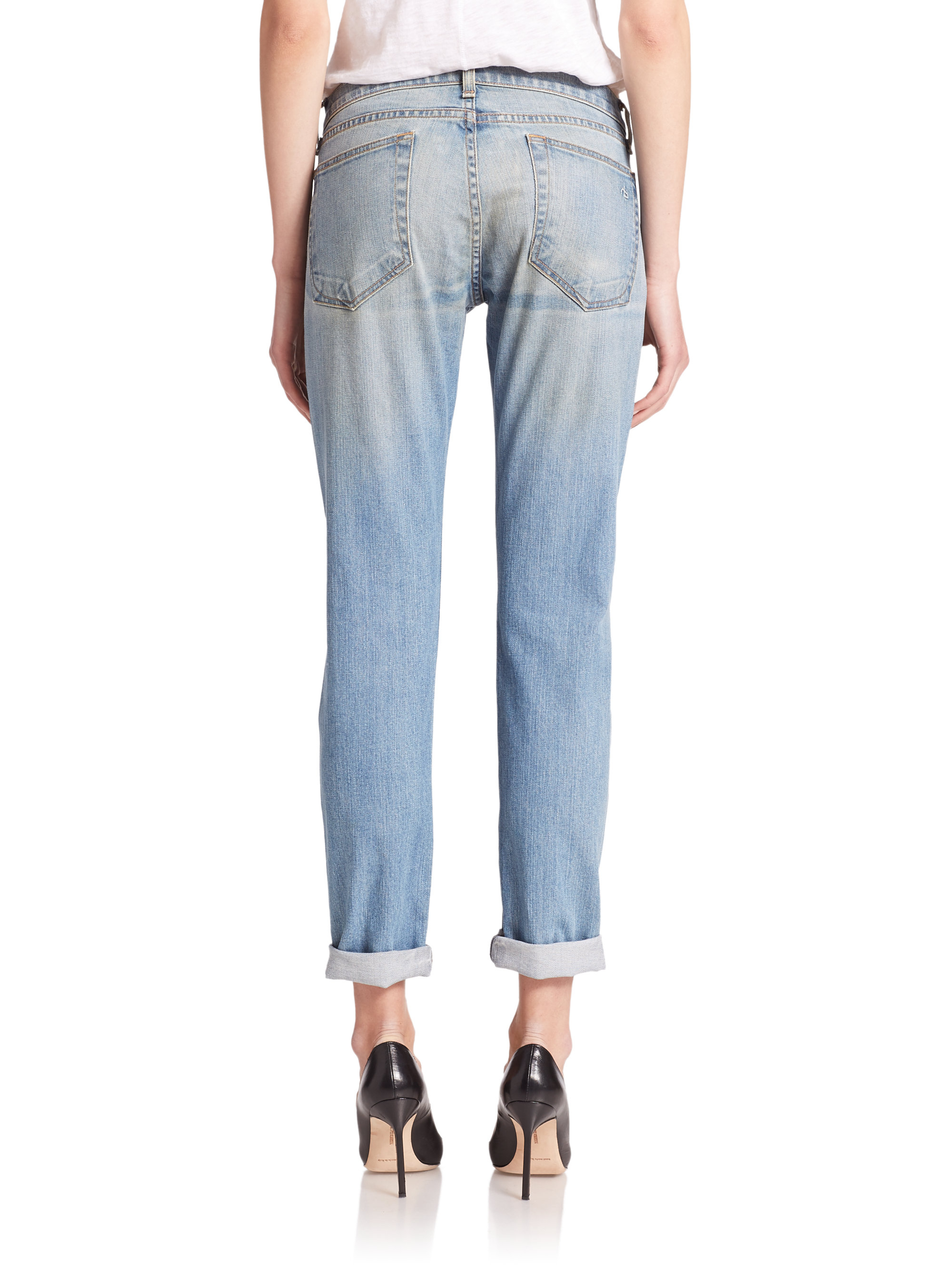 11fb783bd65 Rag & Bone The Dre Skinny Boyfriend Jeans in Blue - Lyst