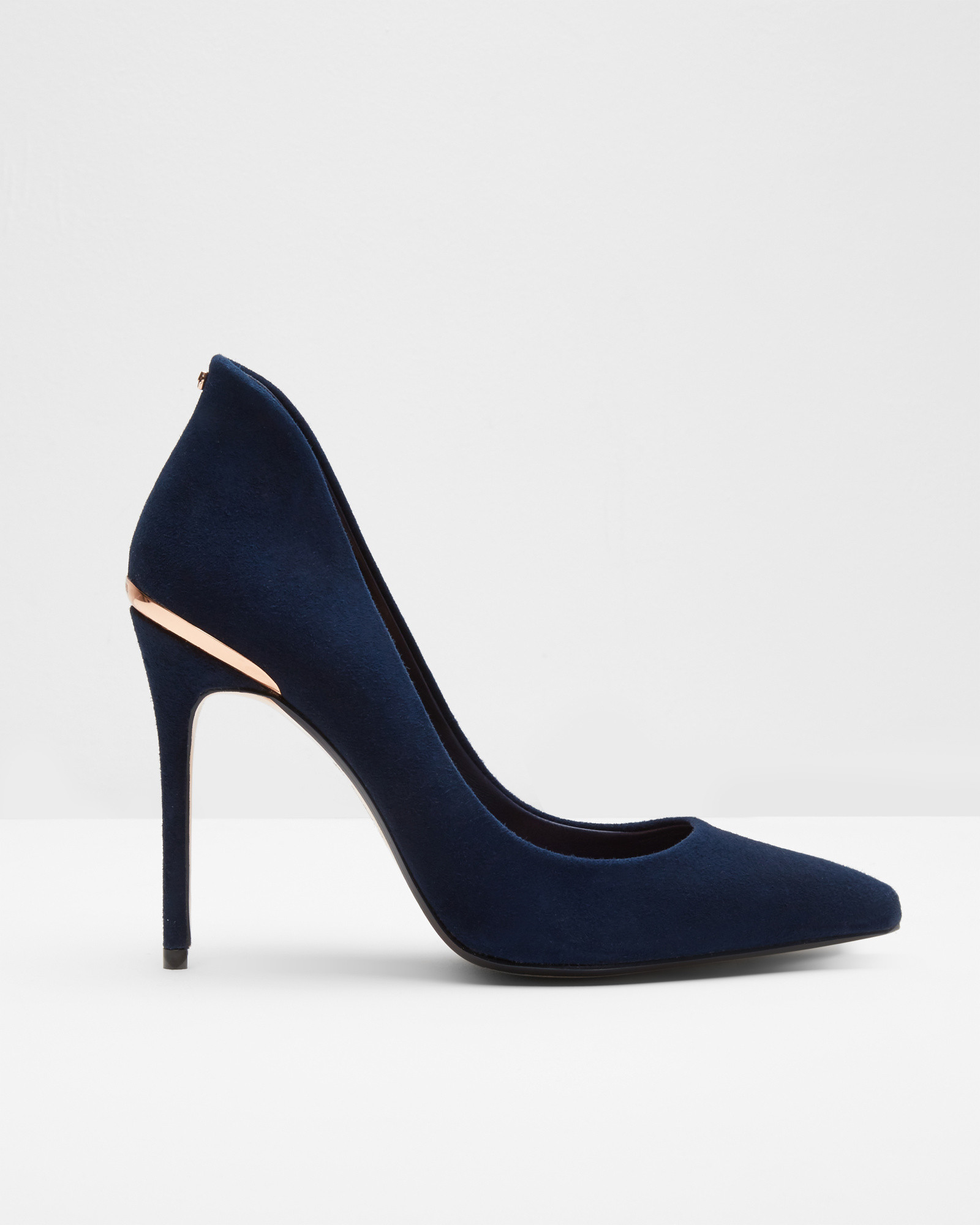 558ba0b27 Lyst - Ted Baker Pointed Leather Court Shoes in Blue