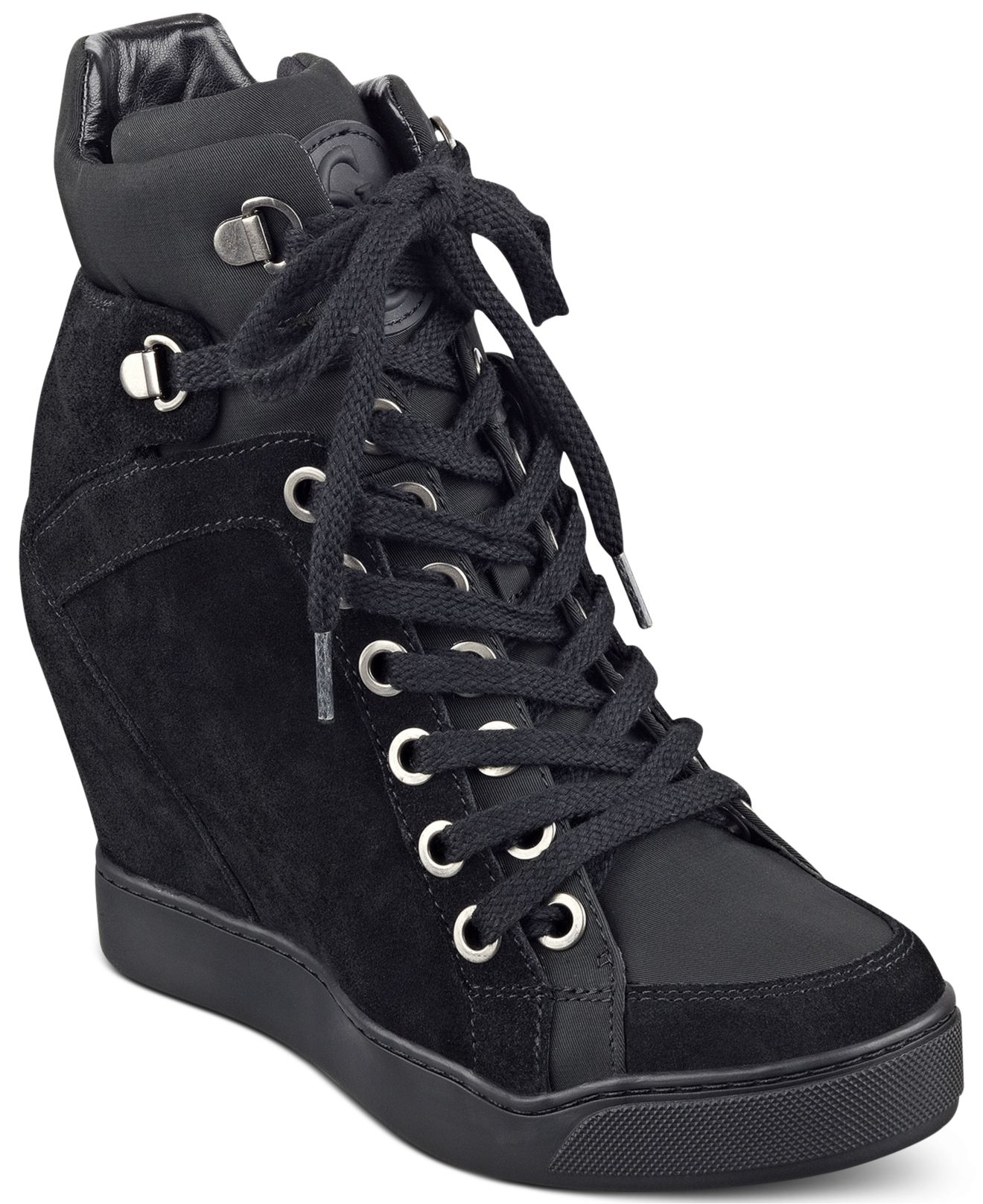 Guess Women's Matty Wedge Sneakers in Black | Lyst