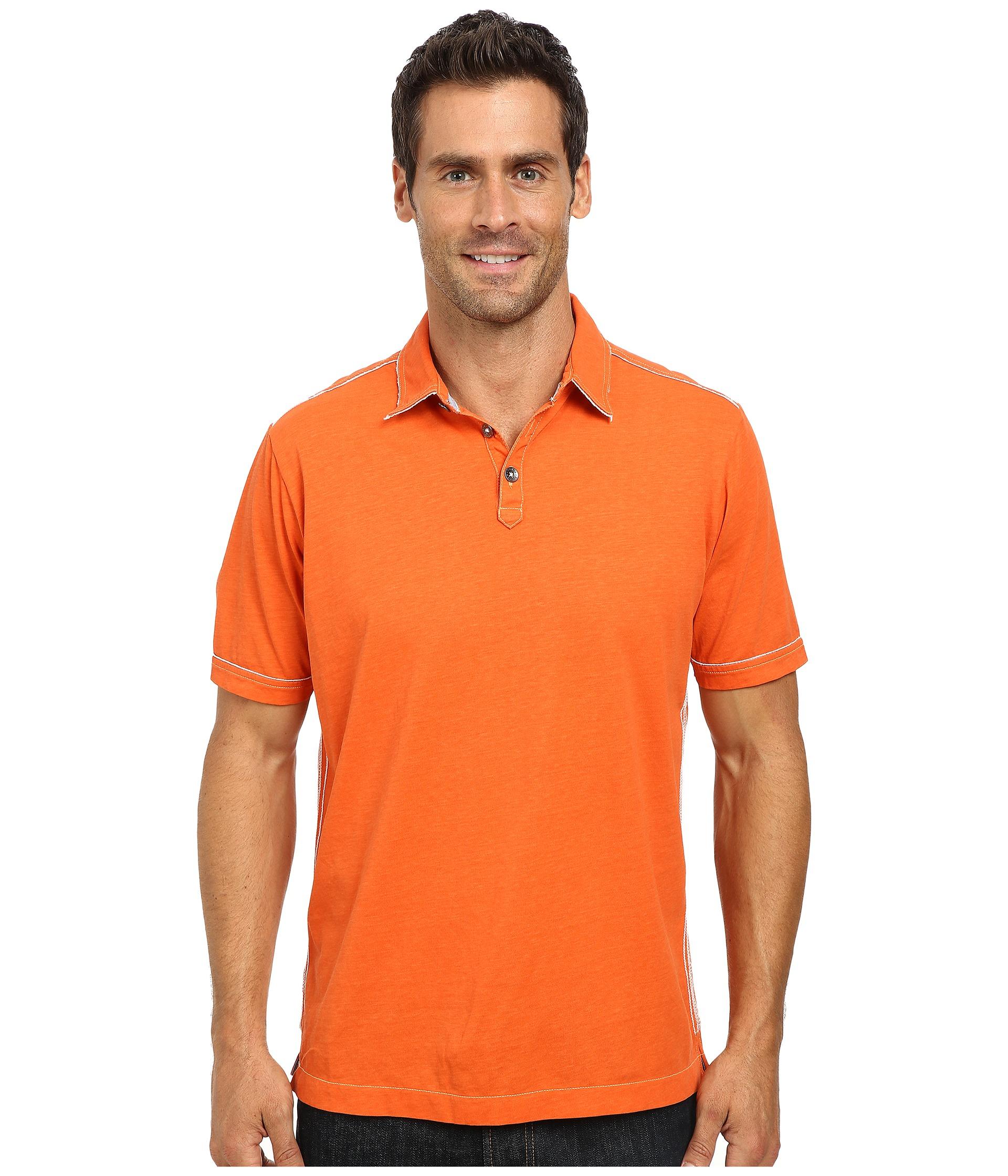 Tommy Bahama New Fray Day Polo In Orange For Men (Daytona