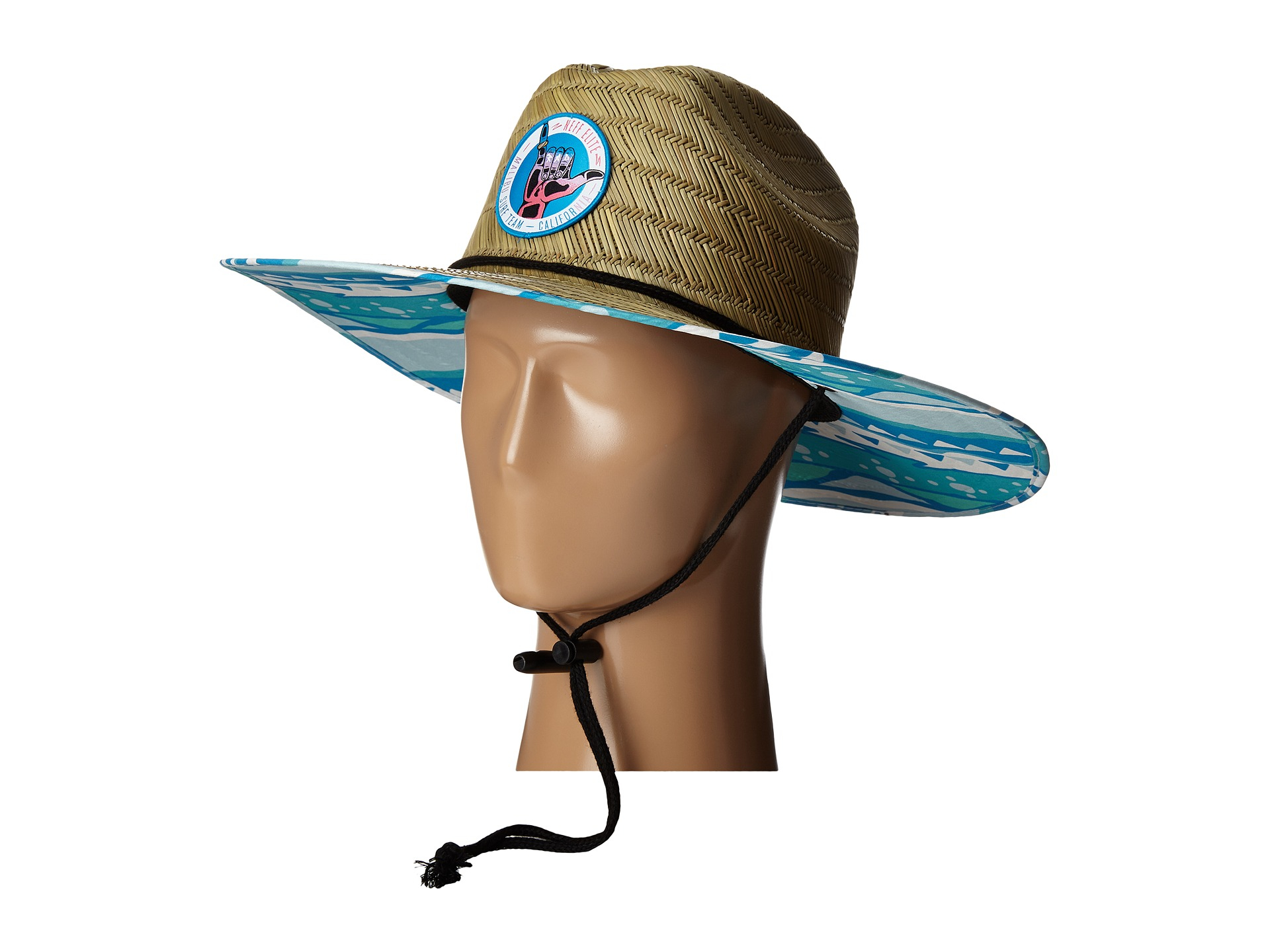 5eb6228d8a0 Lyst - Neff Bae Watch Straw Hat in Natural for Men