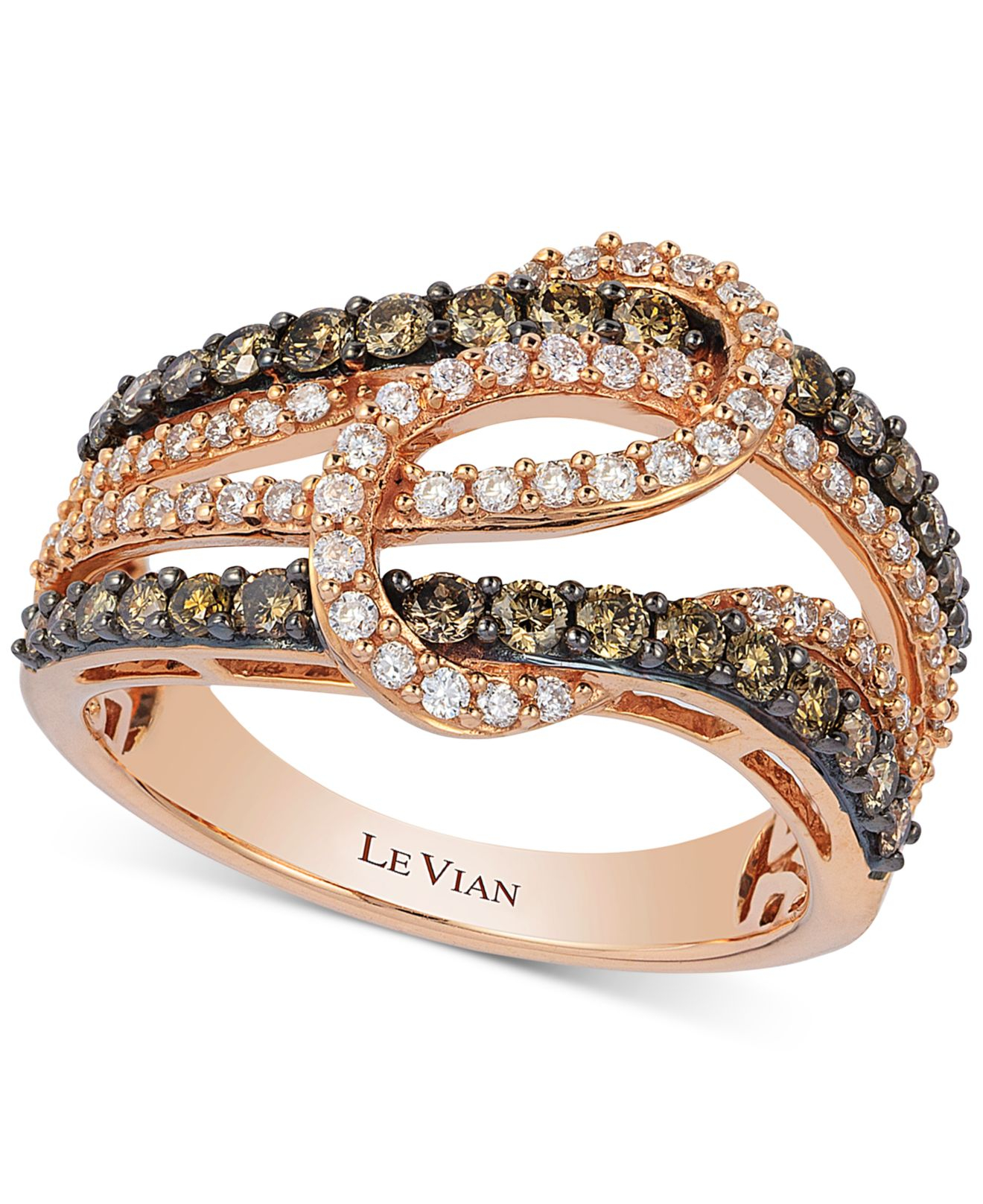 jewelry diamond product ct vian normal in rose le tw gold ring lyst interlocking pink knot gallery
