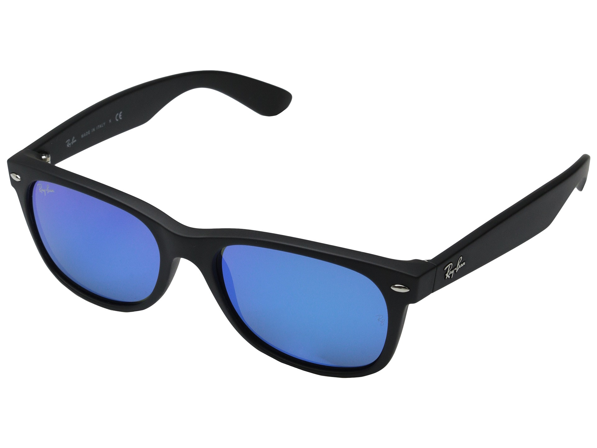 ray ban rb2132 new wayfarer 55mm in blue rubber black lyst. Black Bedroom Furniture Sets. Home Design Ideas