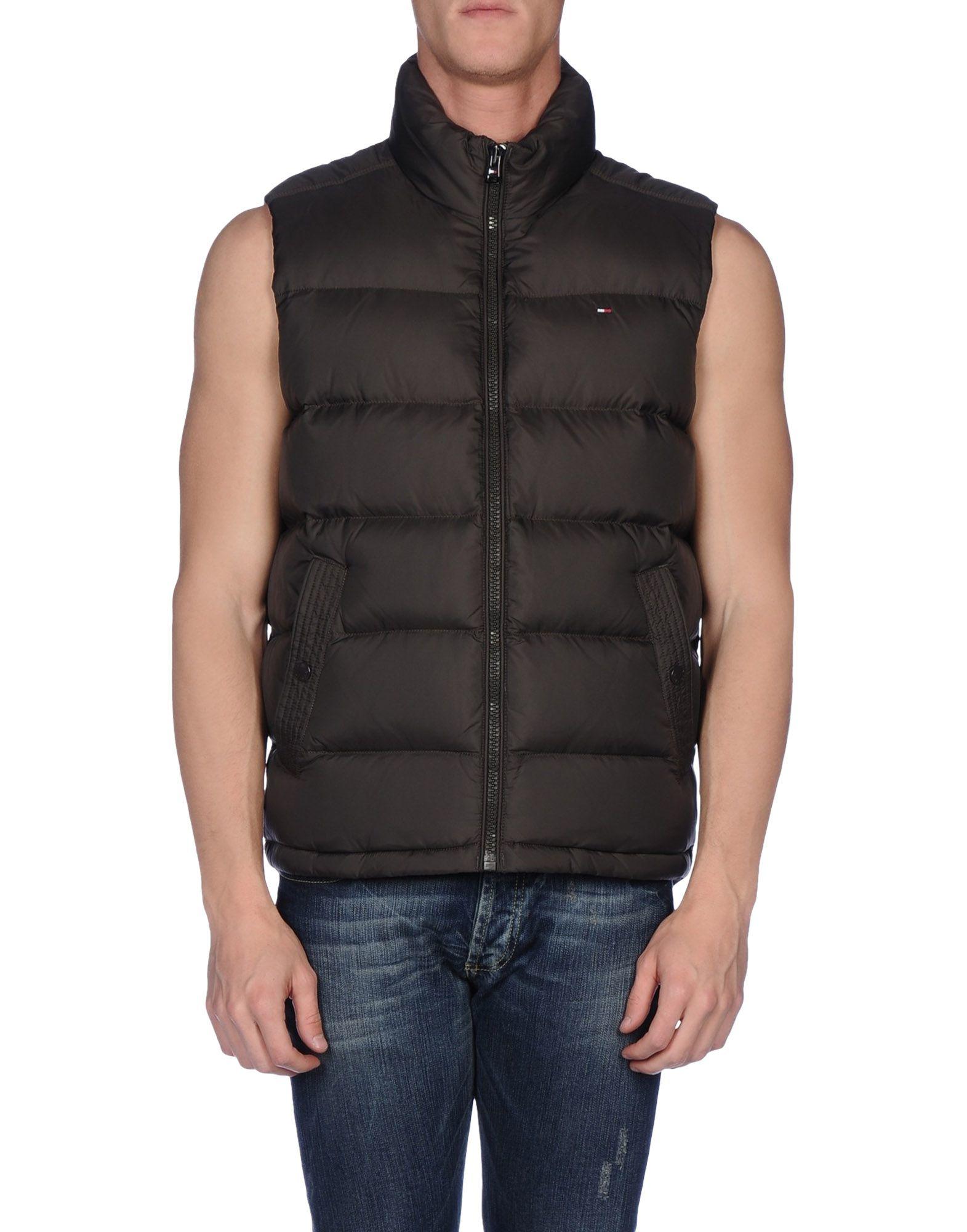 tommy hilfiger down jacket in brown for men cocoa lyst. Black Bedroom Furniture Sets. Home Design Ideas