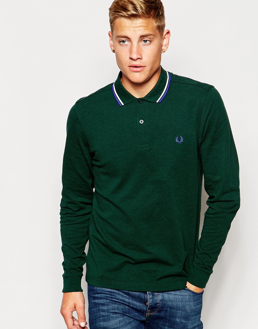 fred perry polo long sleeve slim fit. Black Bedroom Furniture Sets. Home Design Ideas