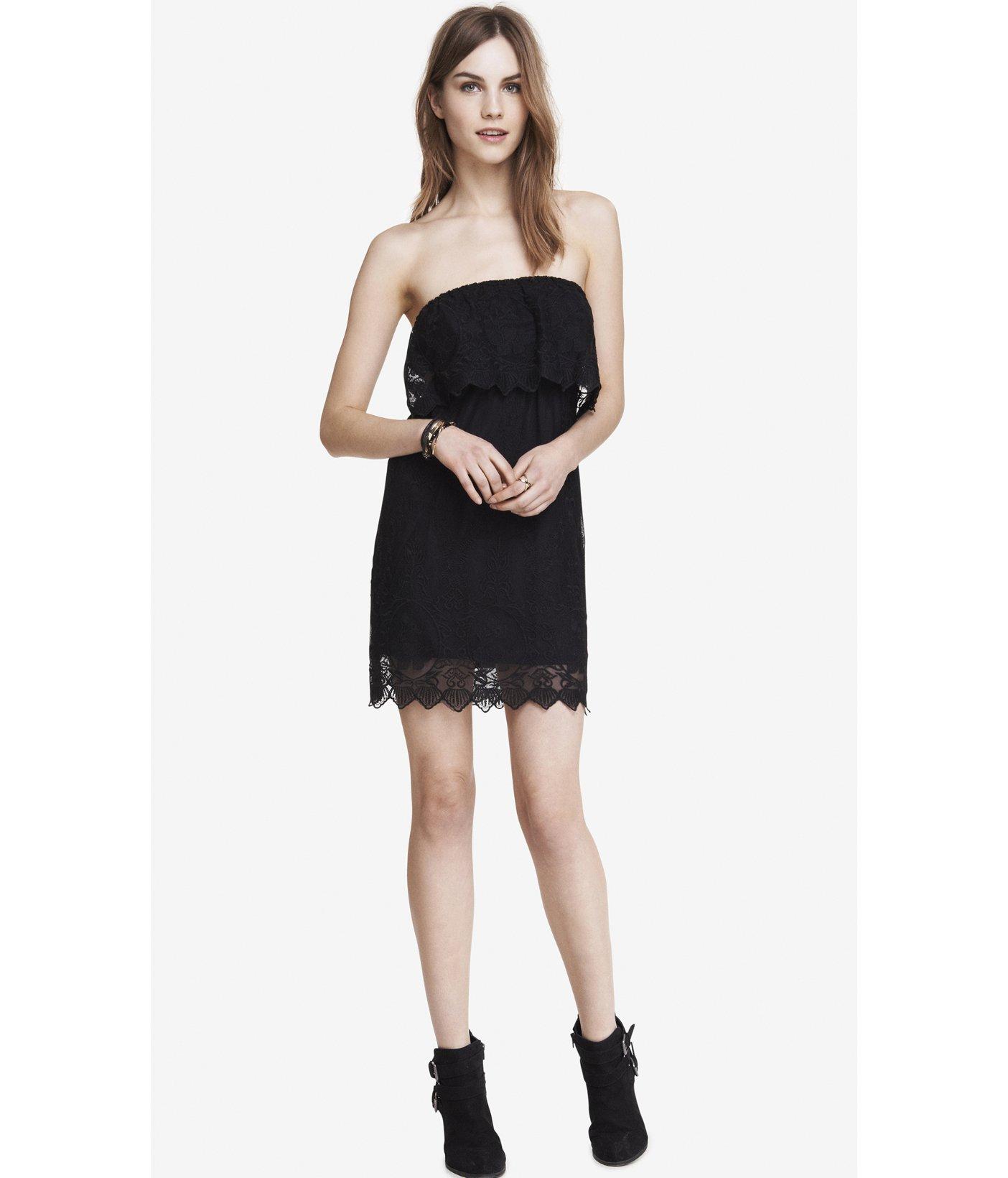 Buy Black little tube dress picture trends