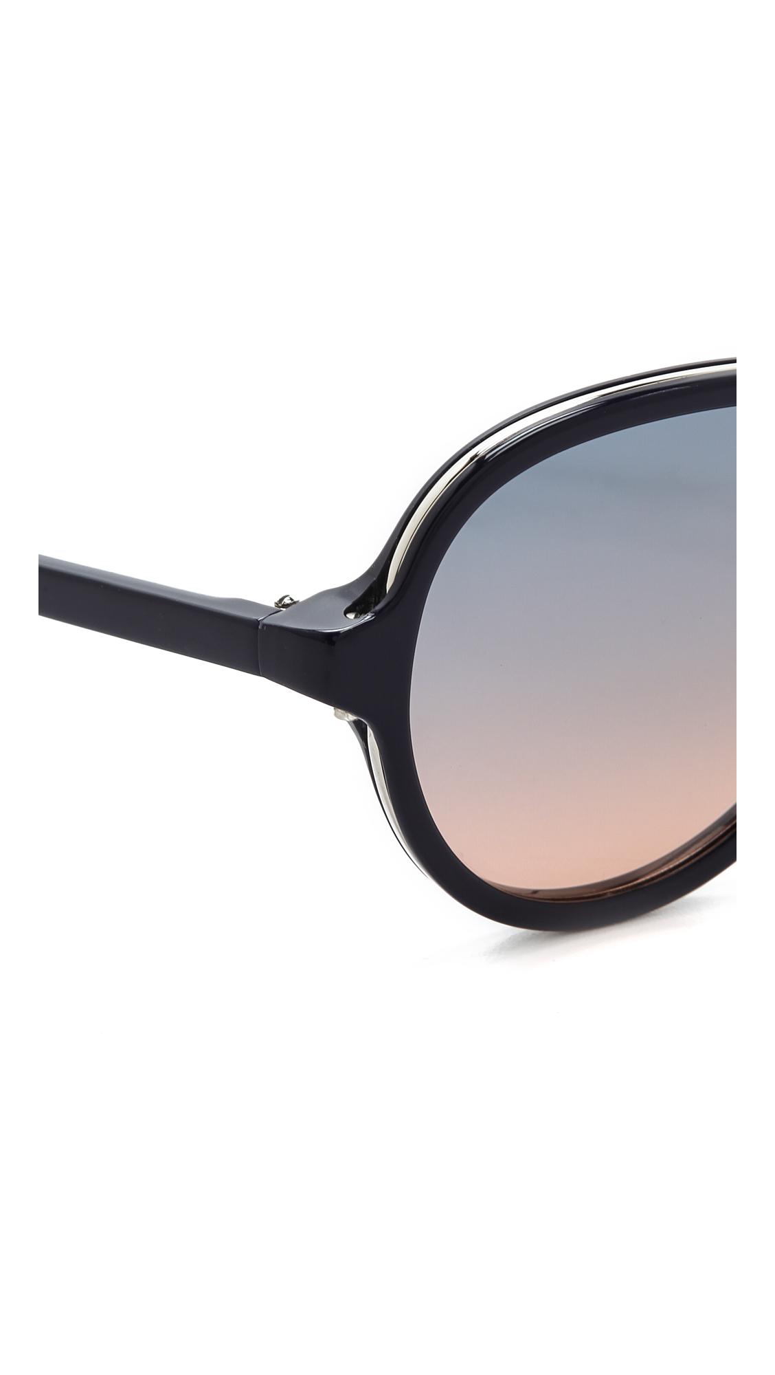 3 1 phillip lim aviator sunglasses in blue lyst