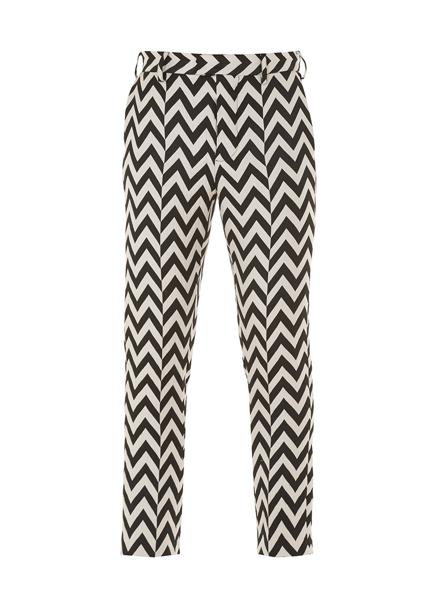 House Of Holland Zig Zag Trousers In Black Lyst