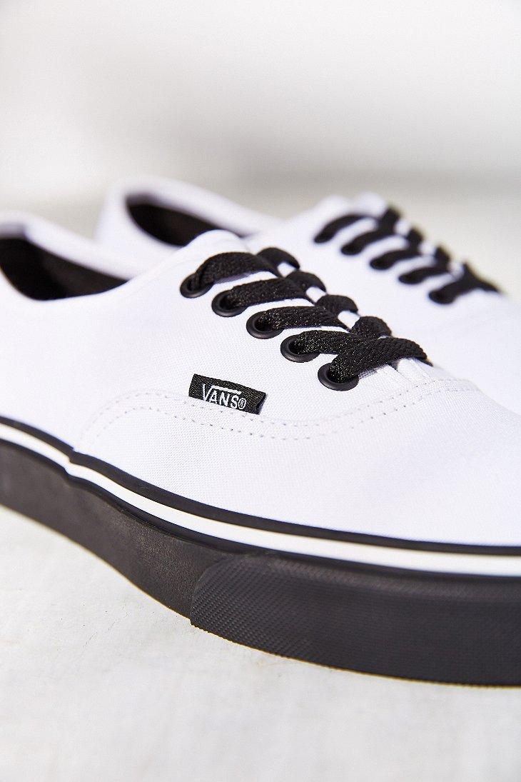 98b868ae2850 Lyst - Vans Authentic Black Sole Sneaker in White