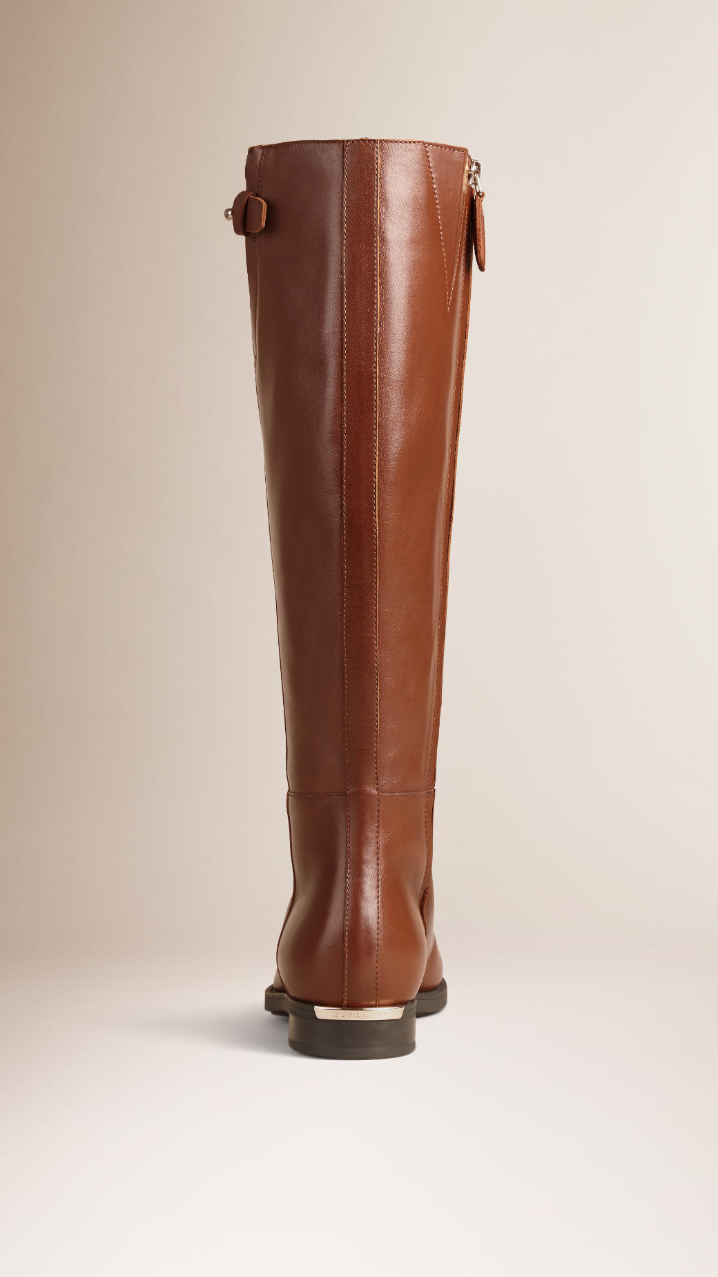 burberry house check trim leather boots in