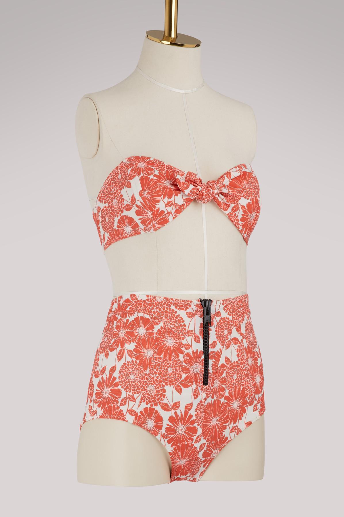 fde727be9ebb3 Lisa Marie Fernandez - Red Poppy High Waist Bikini - Lyst. View fullscreen
