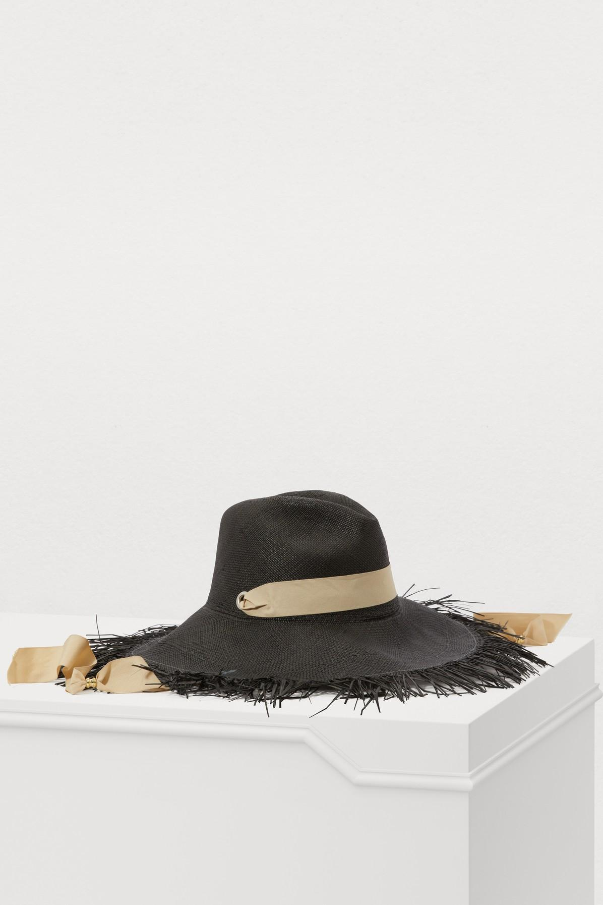 de6c505a Sensi Studio Straw Hat With Ribbon in Black - Save 30% - Lyst