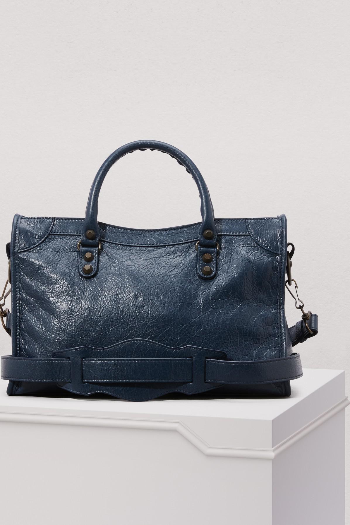 nouveau style 70e85 9a251 Lyst - Petit sac à main City classique Balenciaga en coloris ...