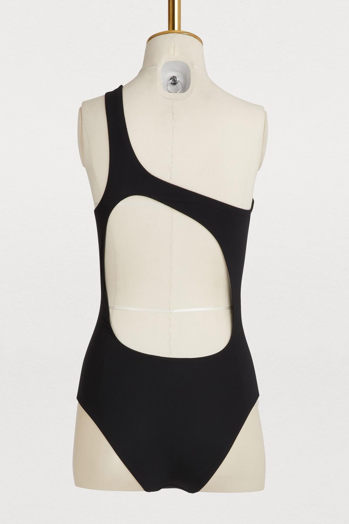 bd9a697492d0a Étoile Isabel Marant - Black Sage One-shoulder Swimsuit - Lyst. View  fullscreen