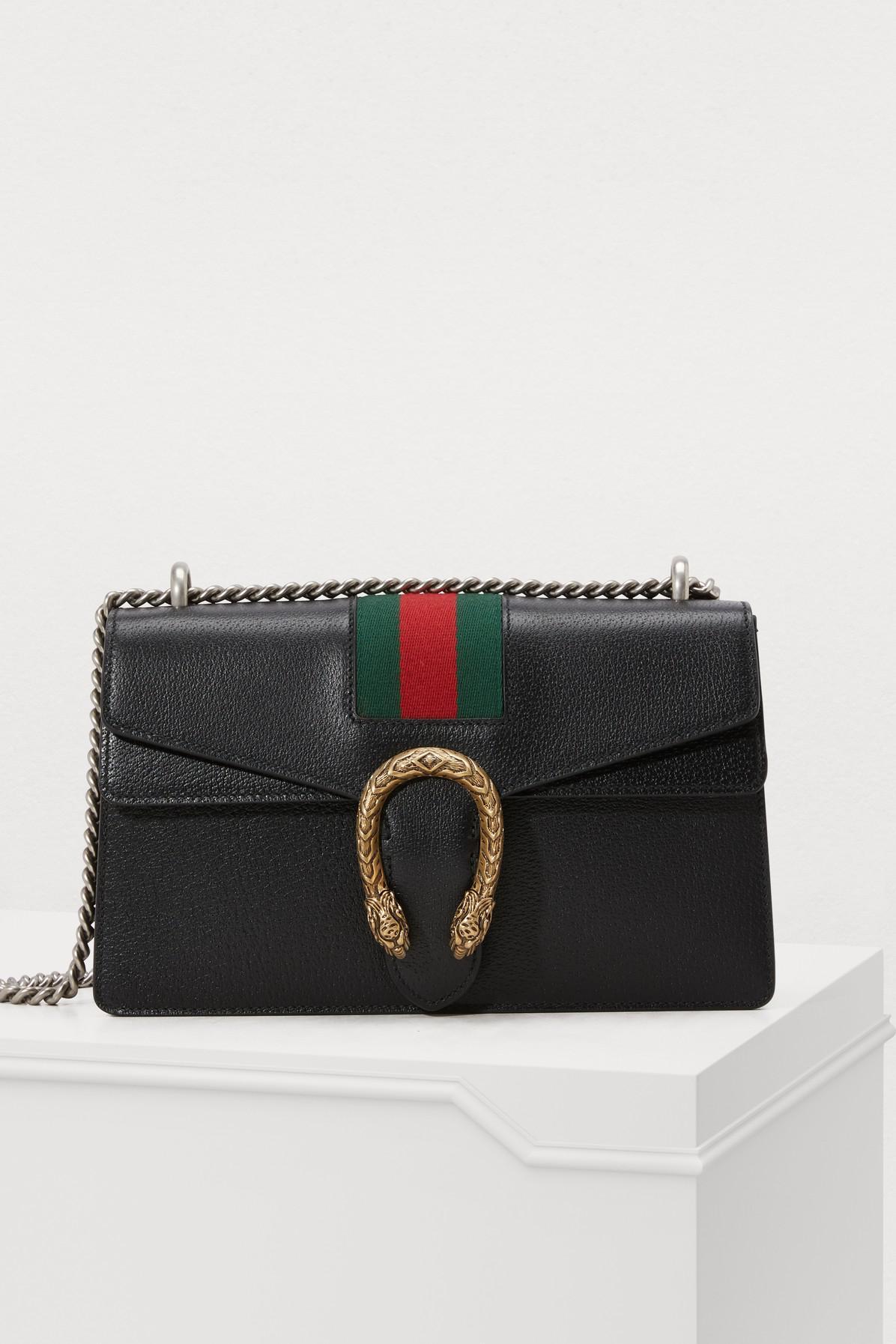 dab79648a83 Gucci Dionysus Leather Shoulder Bag in Black - Save 52% - Lyst