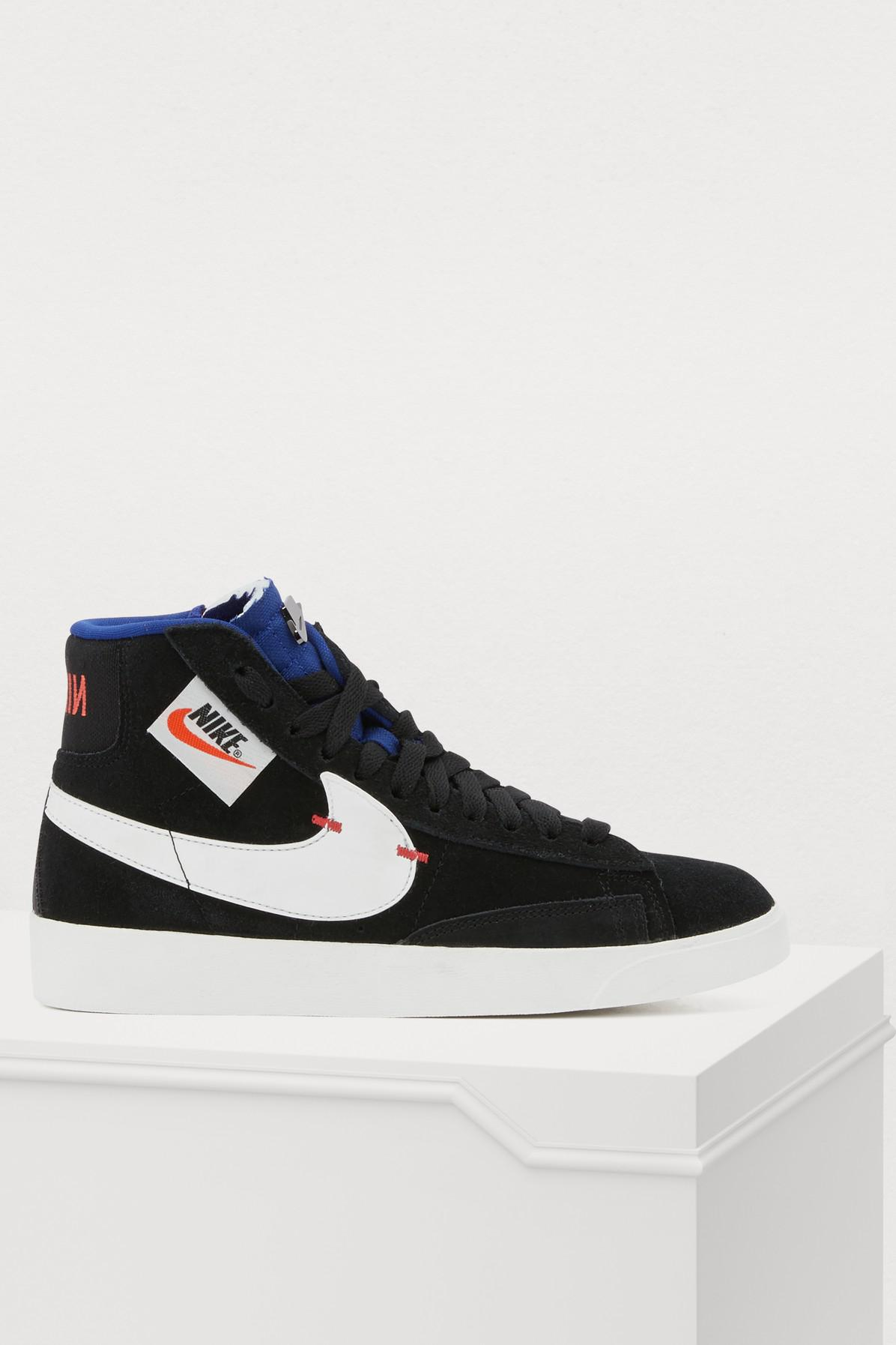 7c10c7bc373c Lyst - Nike Black Blazer Mid Rebel Sneakers in Black - Save 39%
