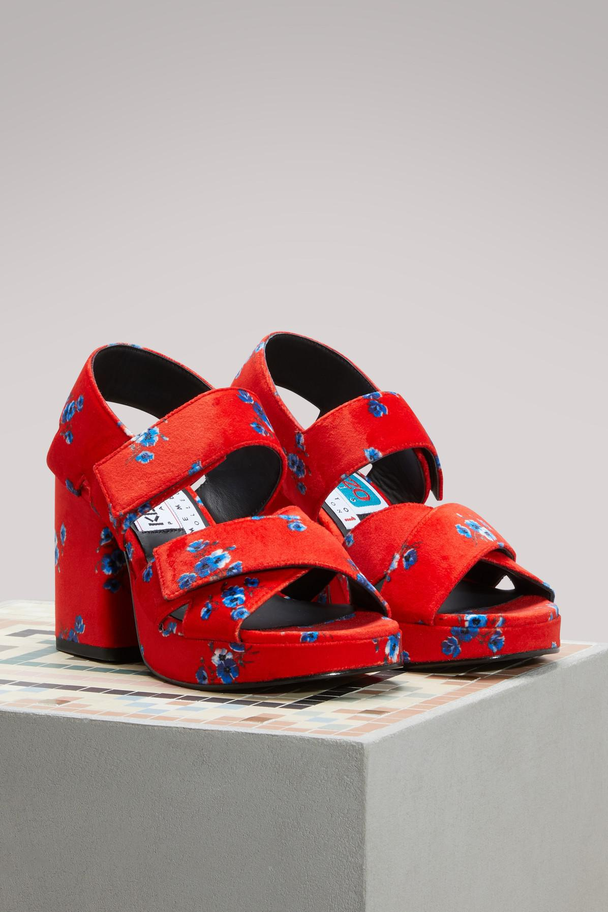 Brand New Unisex For Sale Cheap Real Kenzo Velvet sandals with heels BxRyj