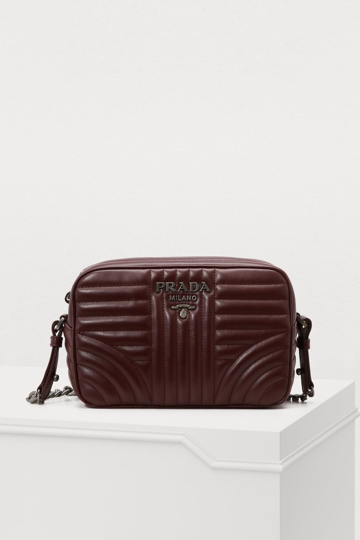 Prada - Brown Diagramme Caméra Shoulder Bag - Lyst. View fullscreen 976738d141071