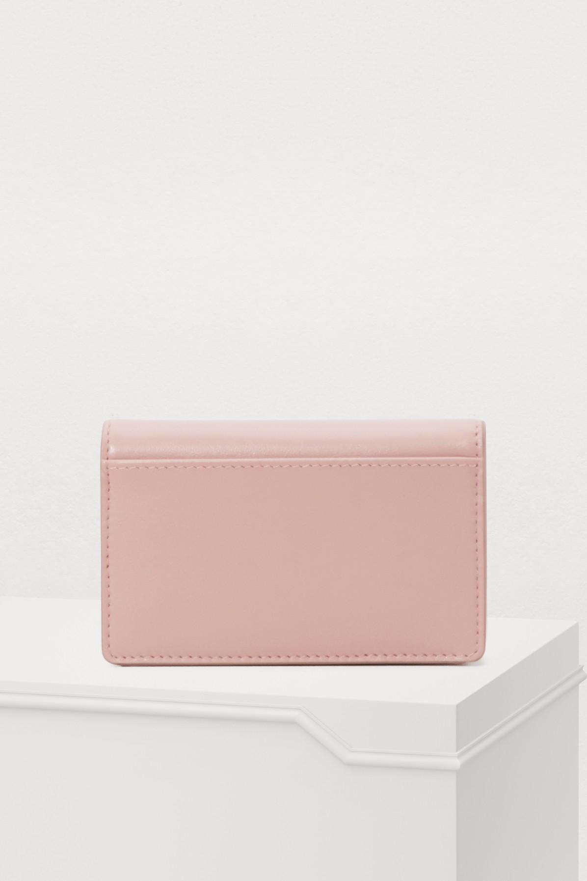 576df1285e66 Miu Miu - Pink Bow Cardholder - Lyst. View fullscreen
