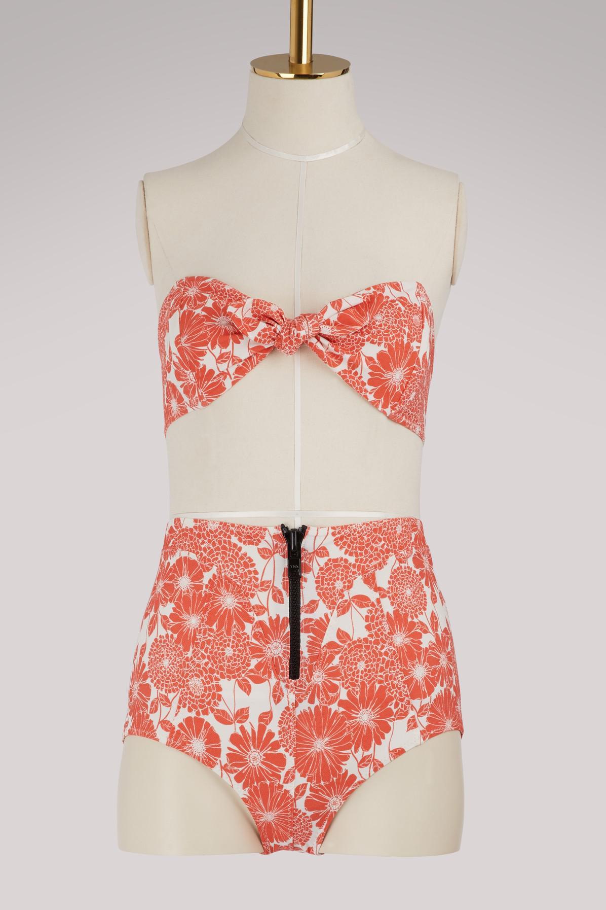 f215c3e650357 Lisa Marie Fernandez Poppy High Waist Bikini in Red - Lyst