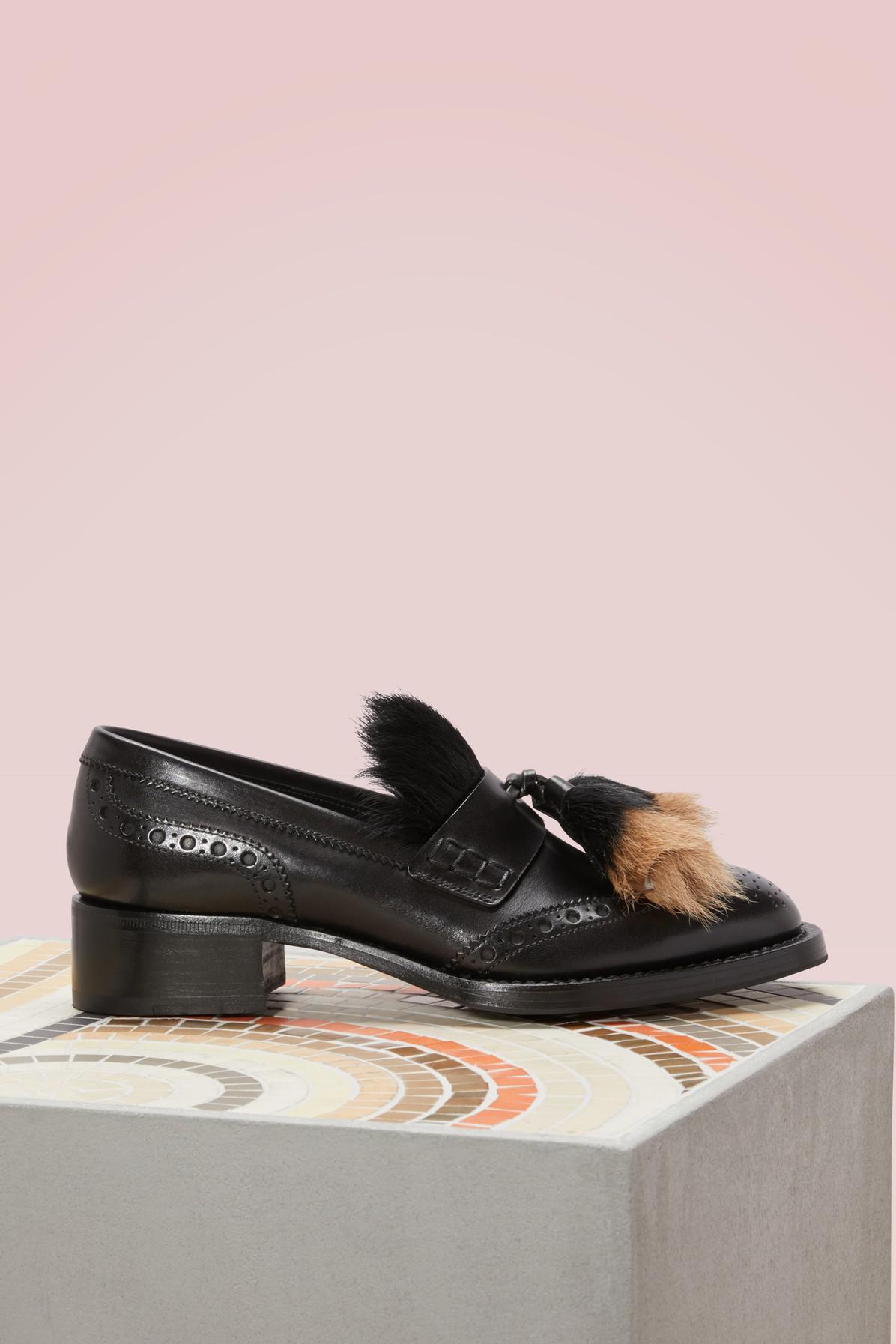Cheap Sale Pictures Buy Cheap Amazing Price Prada Pony fur loafers Nice uQYdz6tJr6
