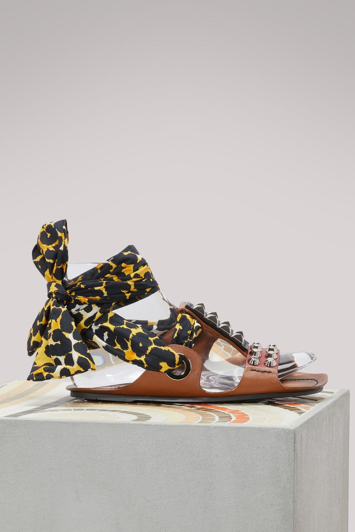 Prada Studded sandals with scarf Lov0pS9mF6