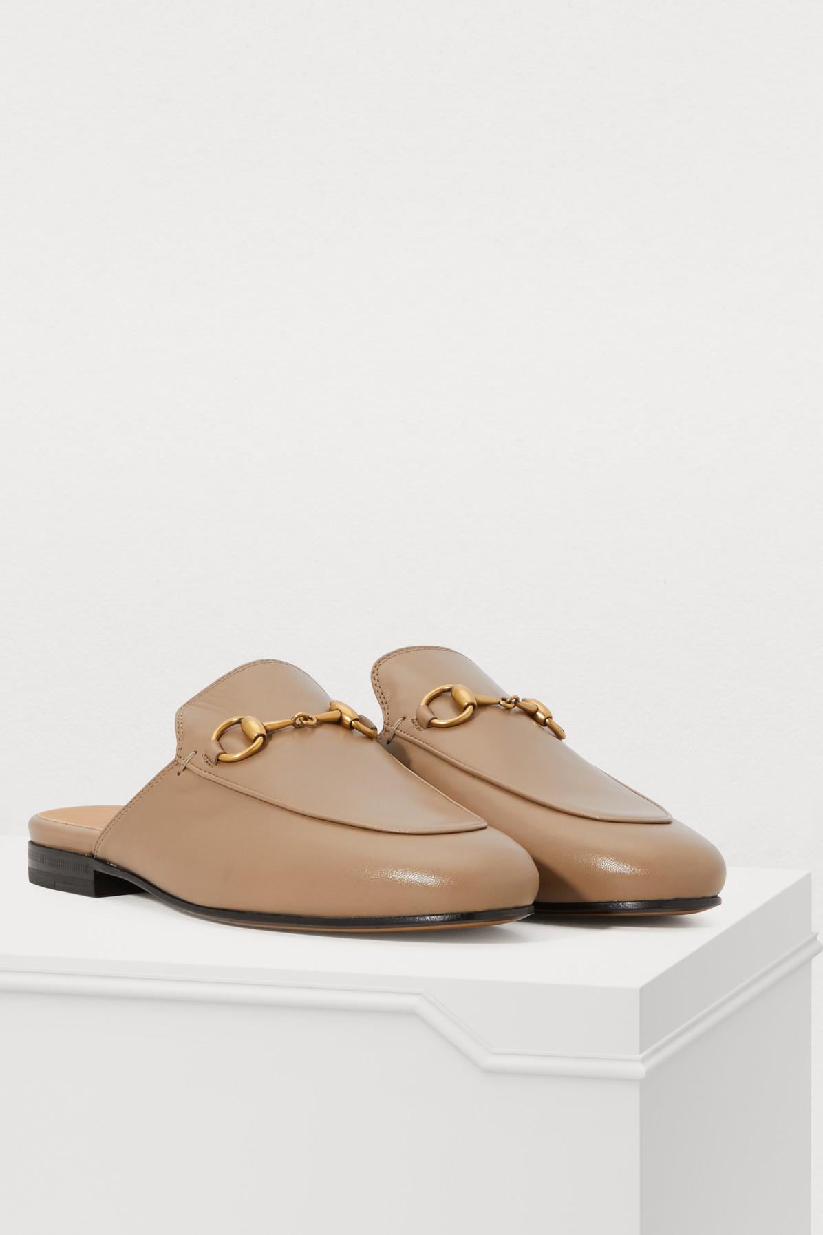 18fe0cac2021 Gucci - Brown Taupe Princetown Slippers - Lyst. View fullscreen