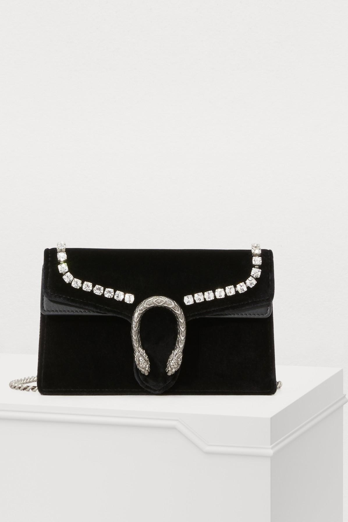 30a97fa919f Gucci - Black Dionysus Super Mini Bag - Lyst. View fullscreen