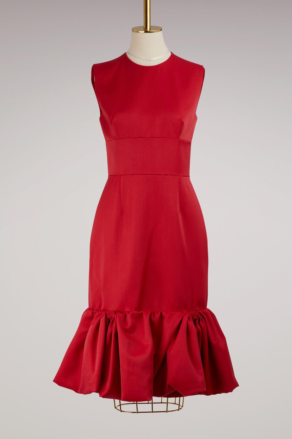 Sleeveless wool and silk dress Prada zJMxRL