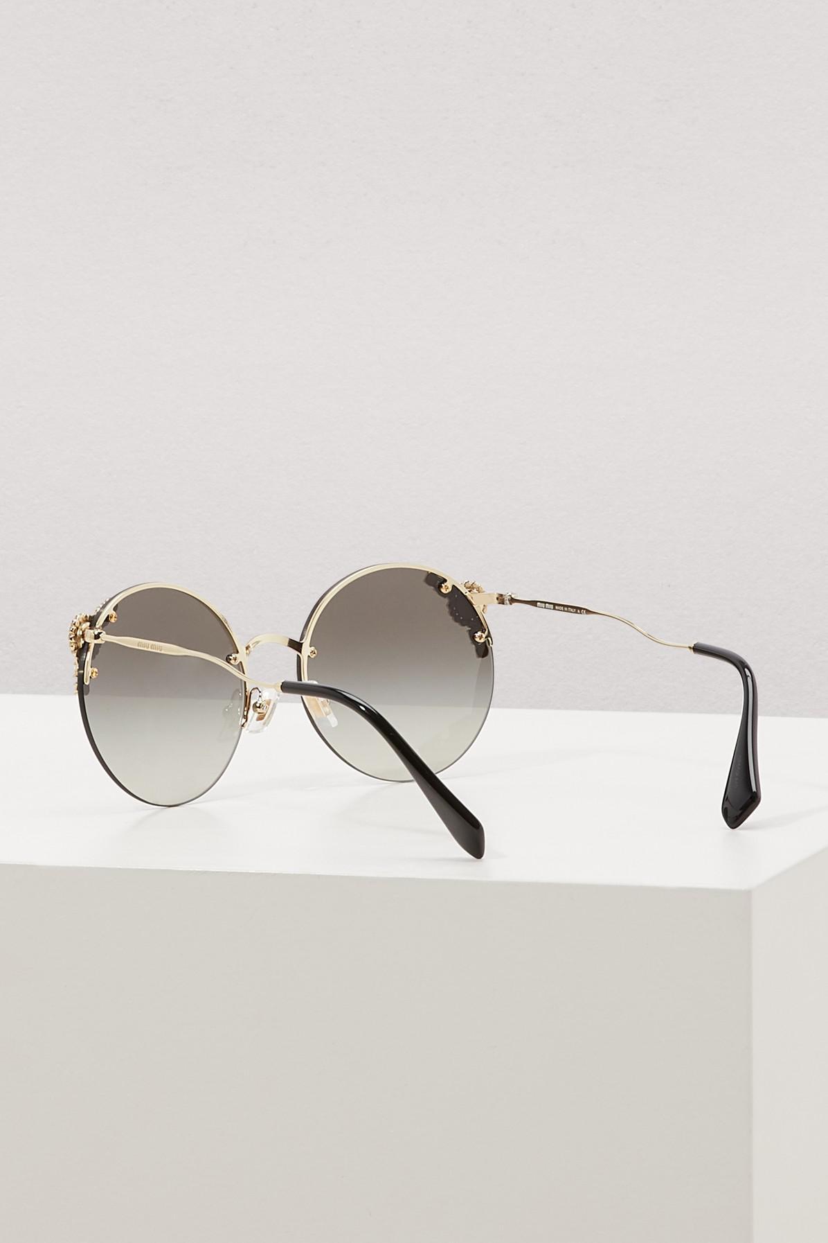 7c757eb1e3fa Miu Miu - Multicolor Manière Sunglasses - Lyst. View fullscreen