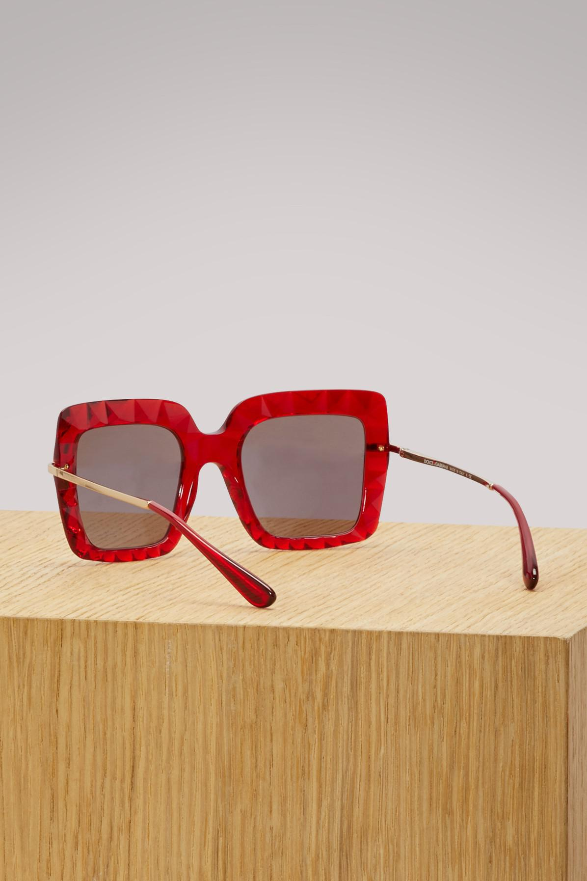 744561661f Lyst - Dolce   Gabbana Faced Stones in Red