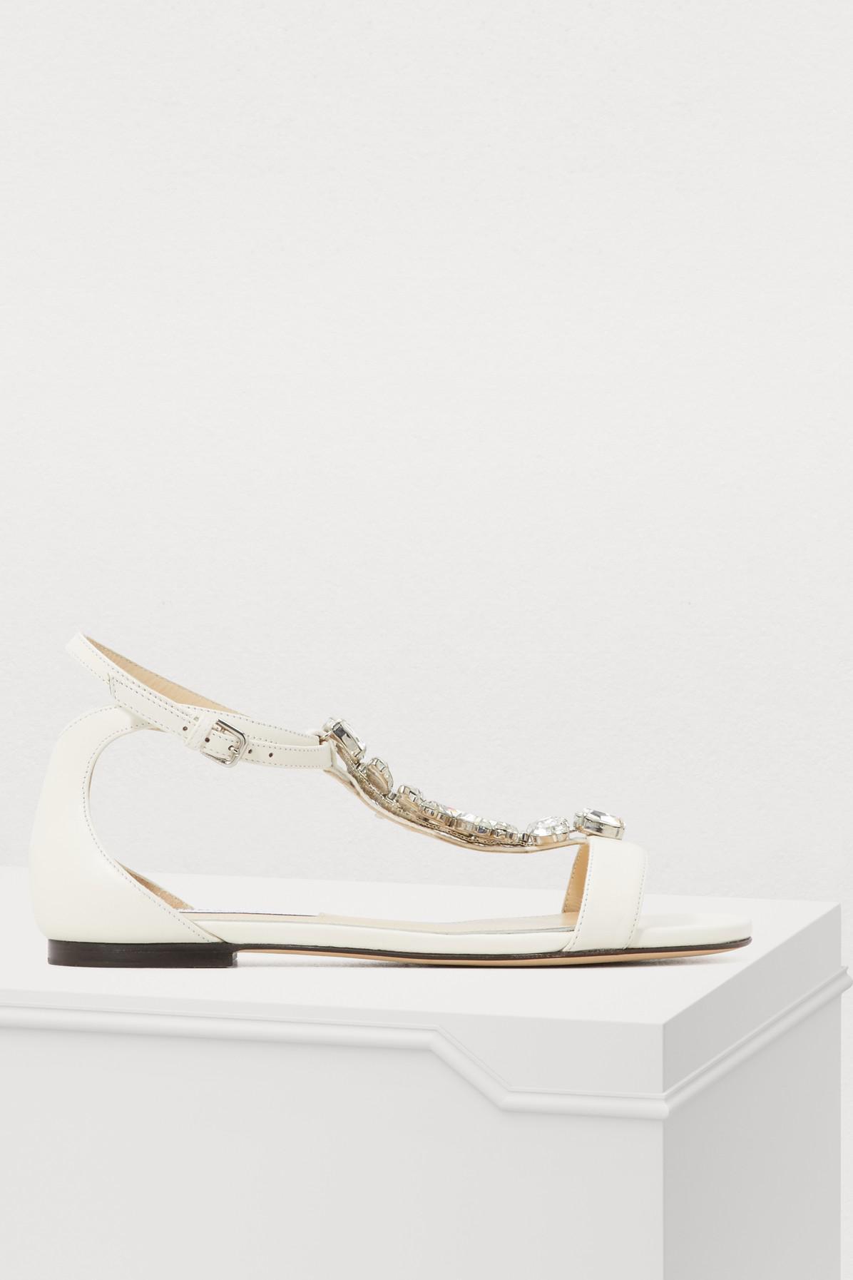 2ac9ee013ed2 Lyst - Jimmy Choo Averie Sandals in Metallic