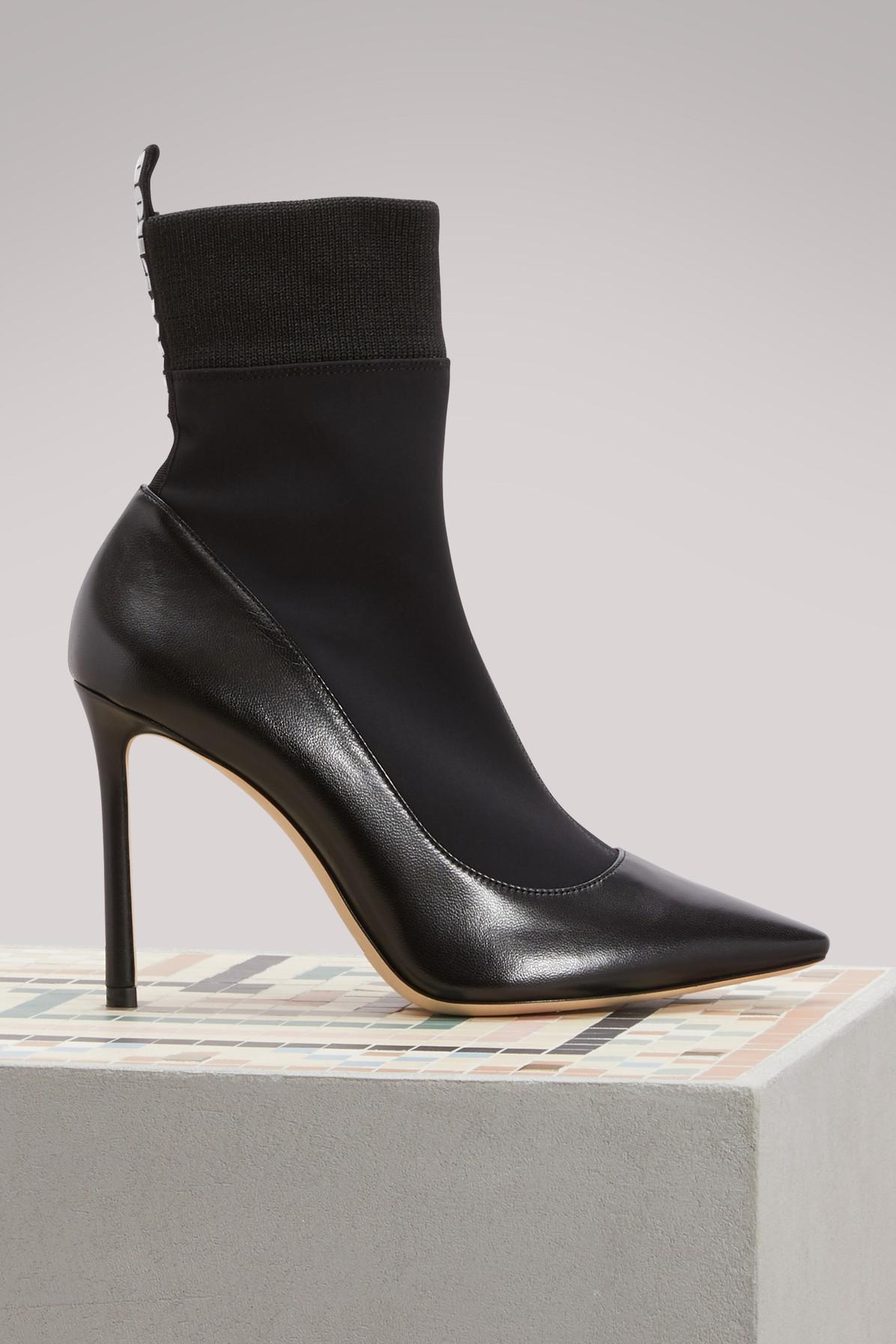 2d7d3663a854 Lyst - Jimmy Choo Brandon 100 Ankle Boots in Black