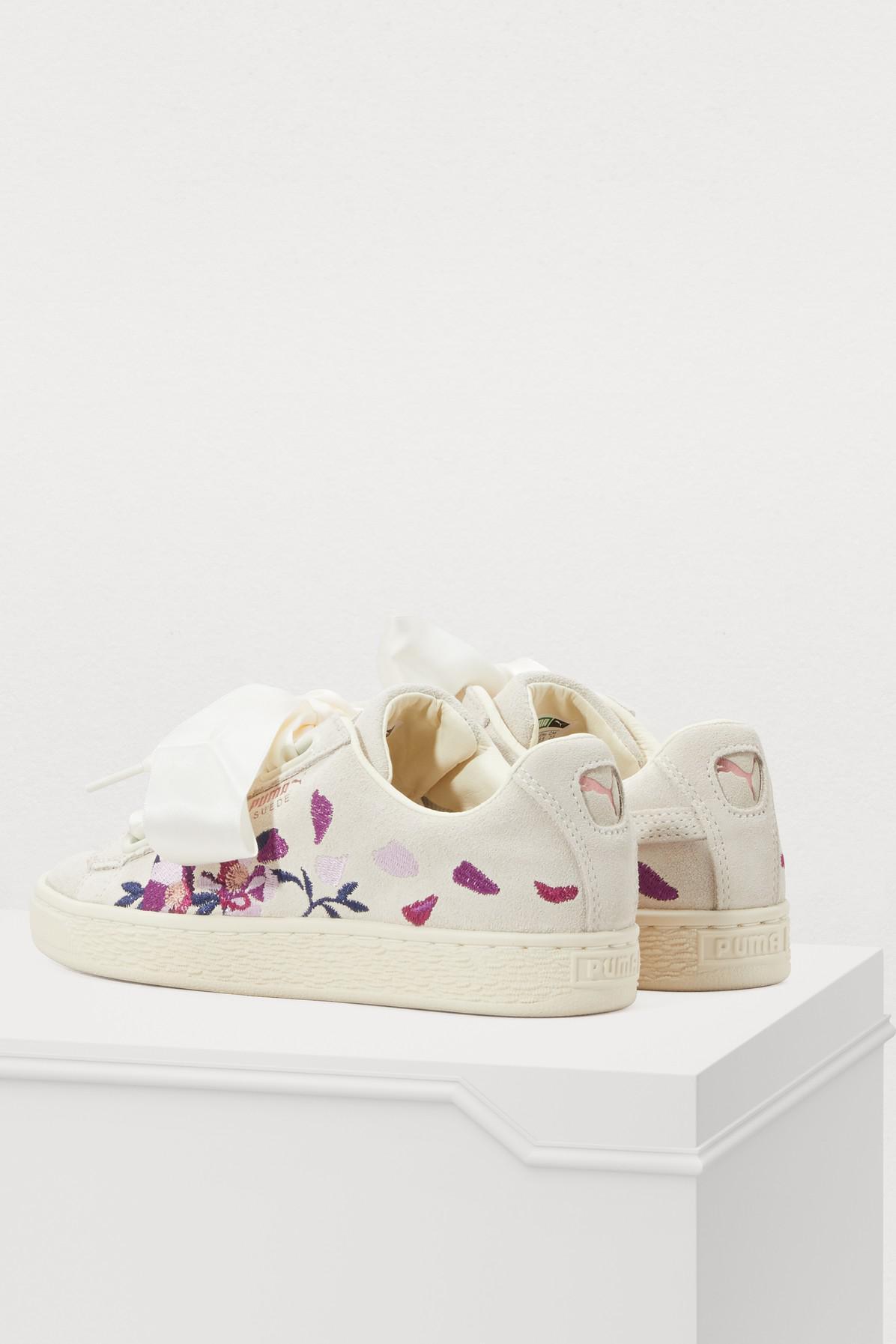 d073fae83a62 PUMA - White Heart Flower Sneakers - Lyst. View fullscreen