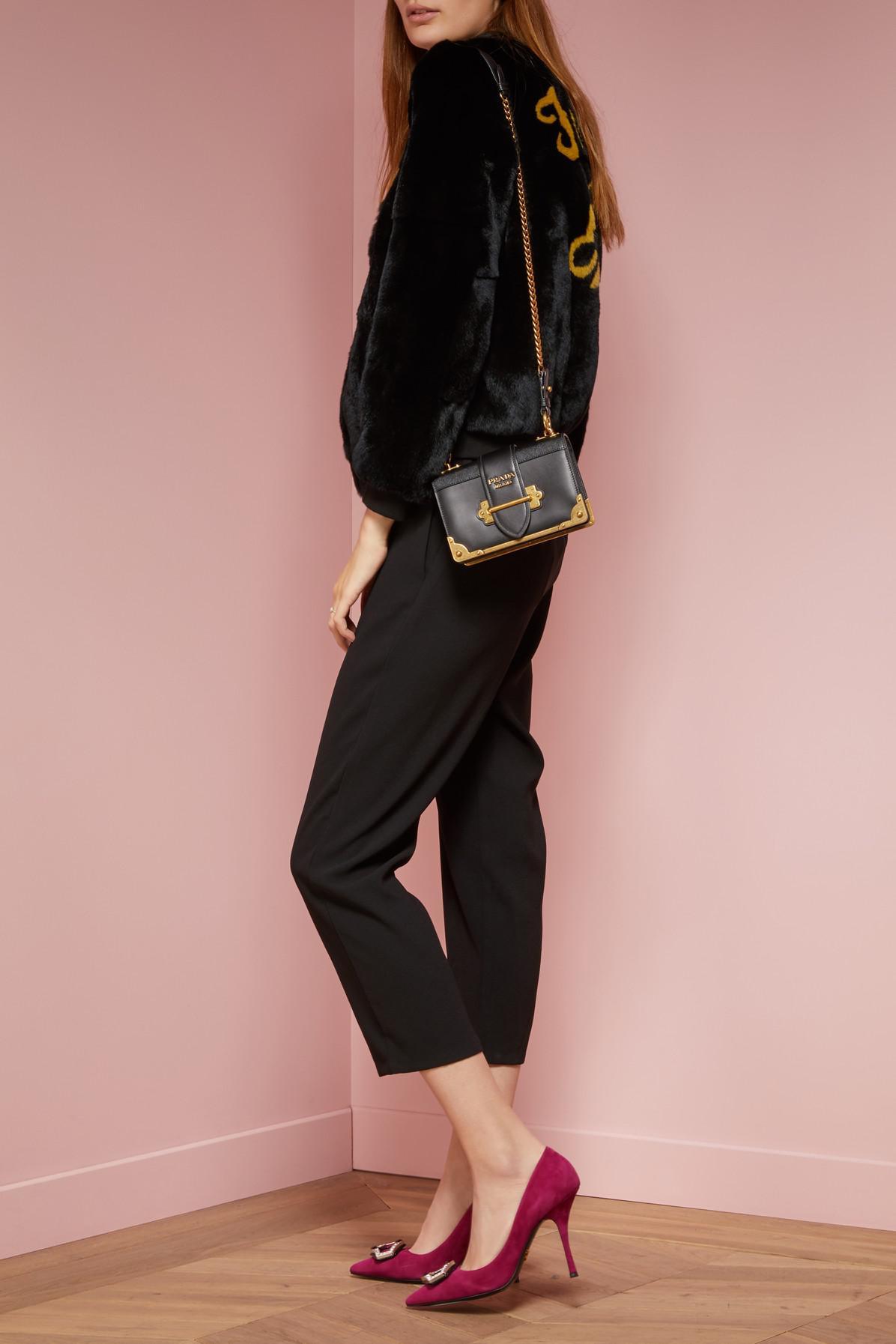 Lyst - Prada Mini Cahier Bag in Black 6a141765c52b8