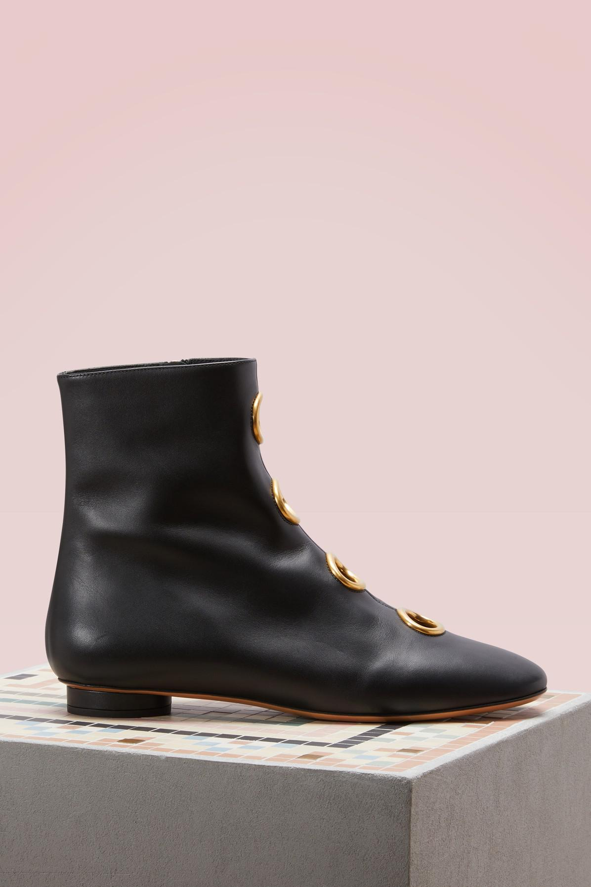 Valentino Leather Boots With Grommets y5XCHm