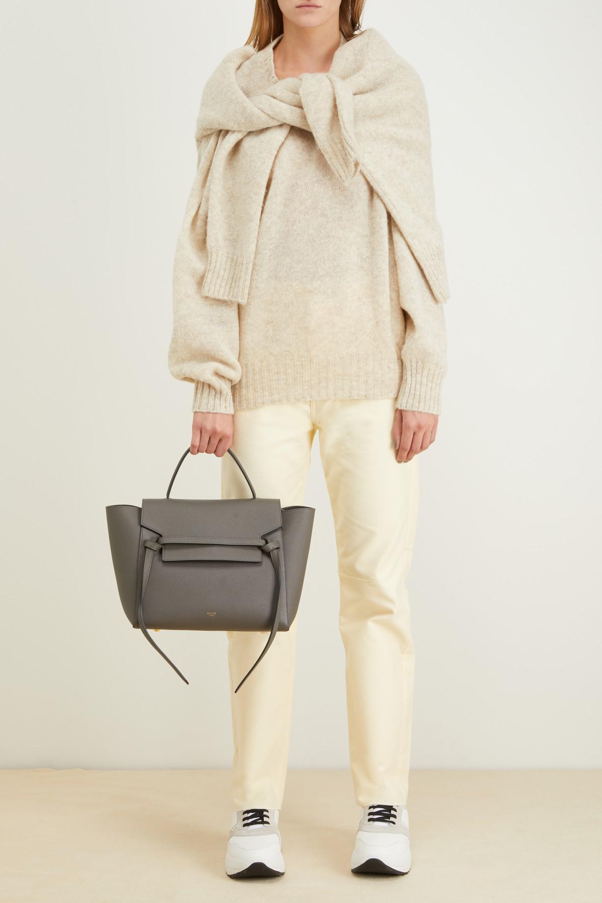 Lyst - Céline Mini Belt Bag In Grained Calfskin in Gray 016c064bc7a9f