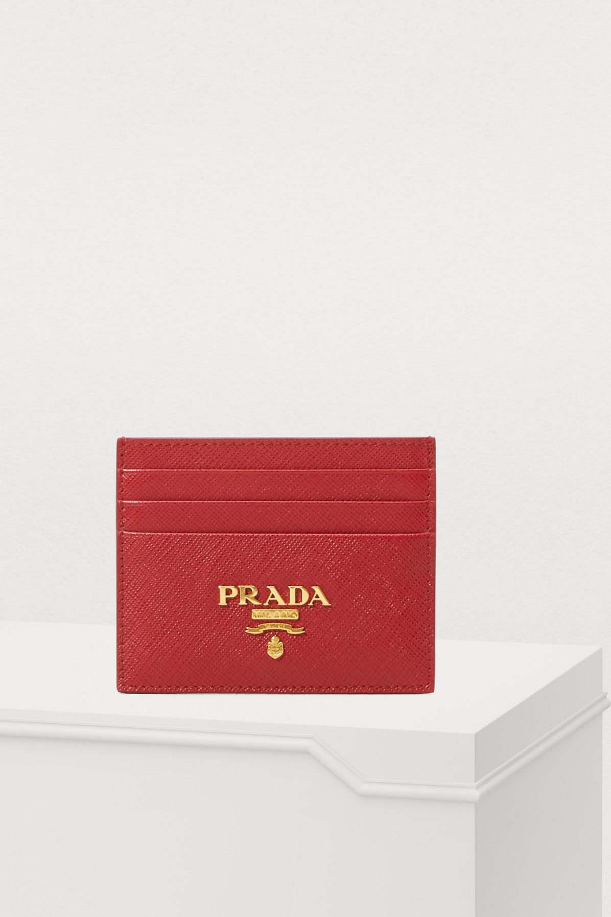 ba08c074c17c60 ... denmark prada red card holder lyst. view fullscreen c41b5 c566b