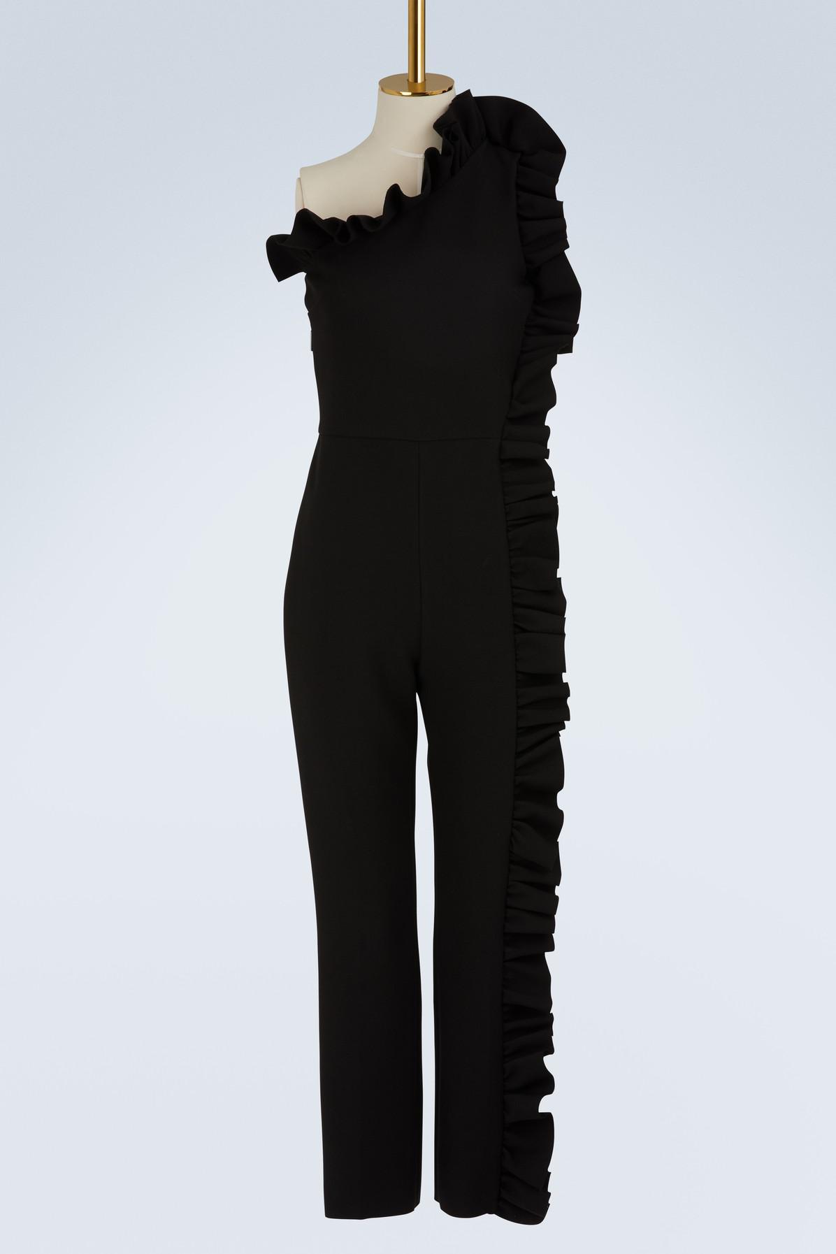 Ruffled asymmetric jumpsuit Msgm Shop Geniue Stockist Sale Online YJG2smwU