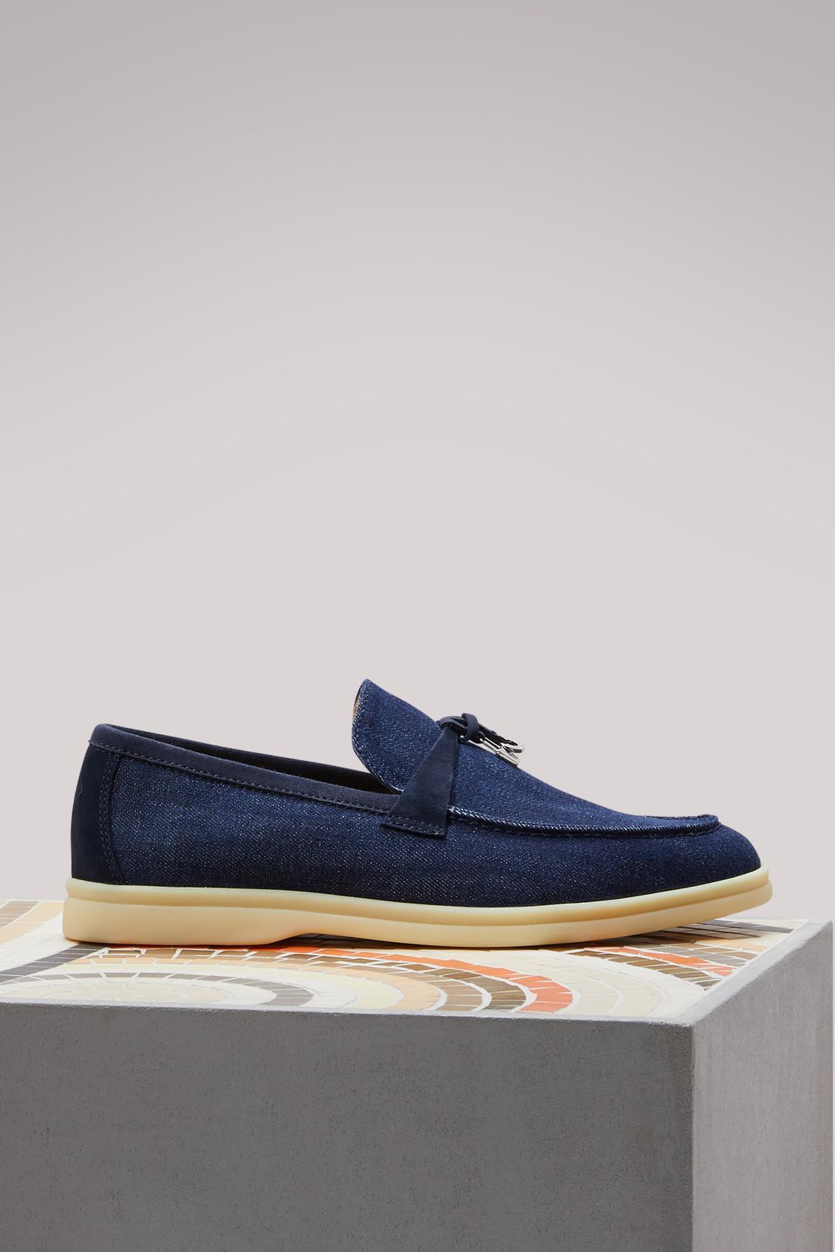 Loro Piana Summer Charm denim slippers J1flGaji