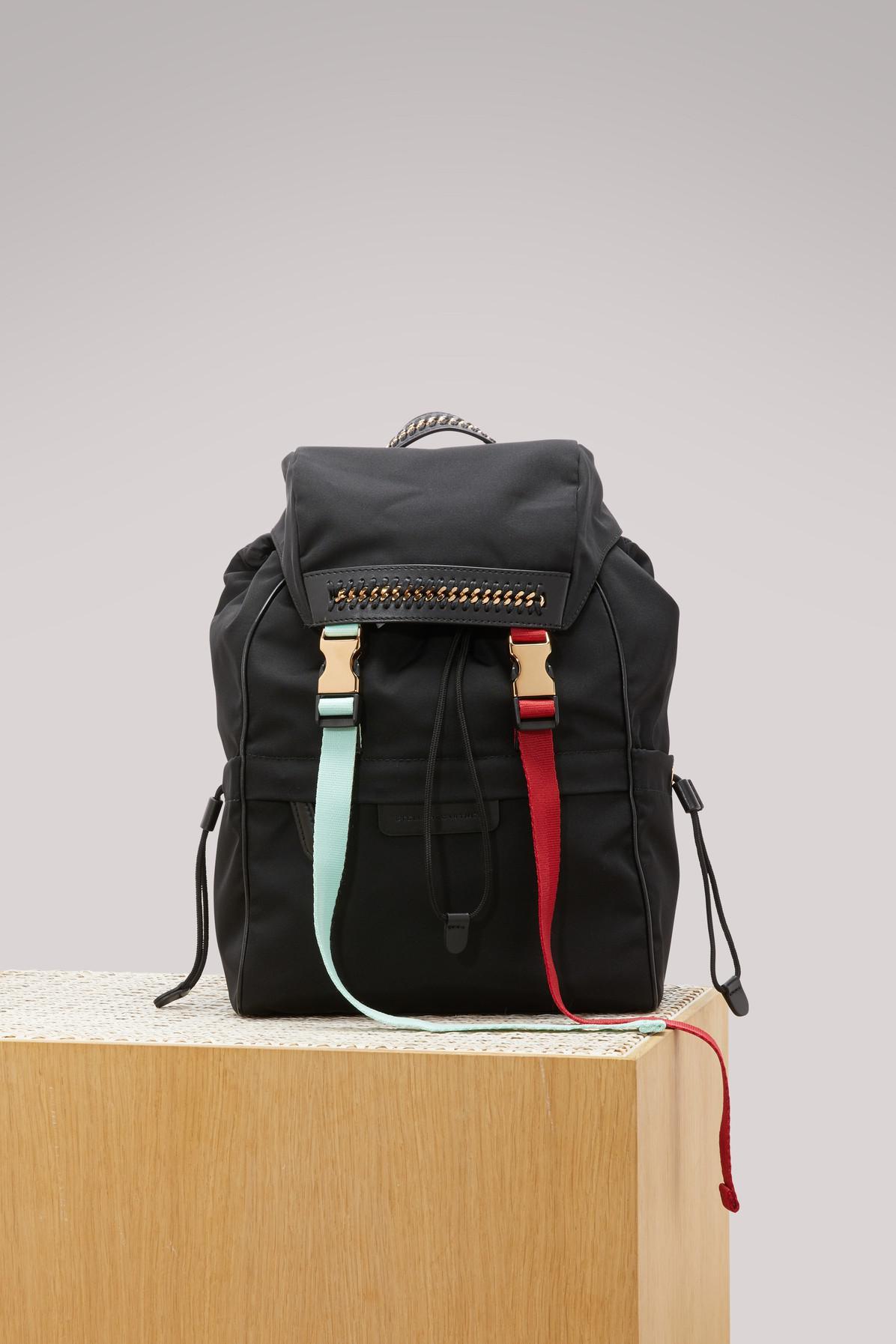 73e595756274 Stella Mccartney Falabella Go Backpack in Black - Lyst