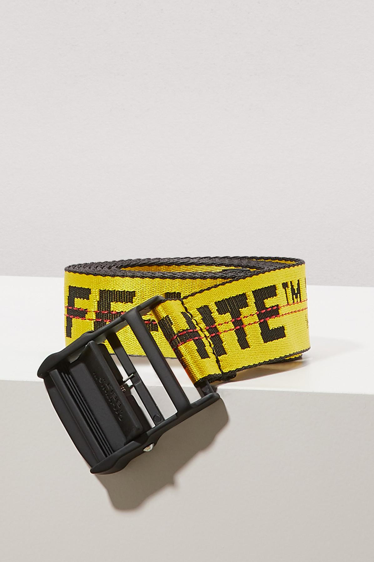 Lyst - Ceinture Industrial Off-White c o Virgil Abloh en coloris Jaune be9e03c826b
